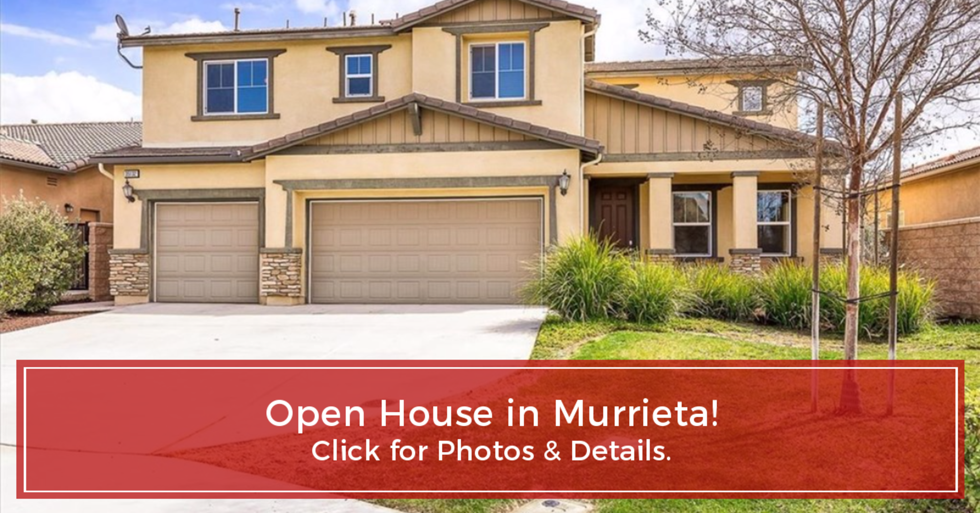 OPEN HOUSE in Murrieta Sunday, 3/10/19 between 12:00-3:00