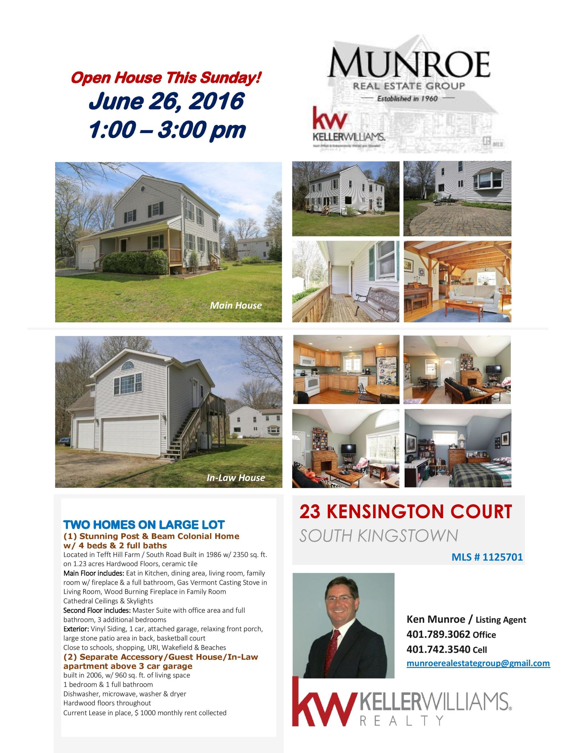 Open House This Sunday! June 26, 2016