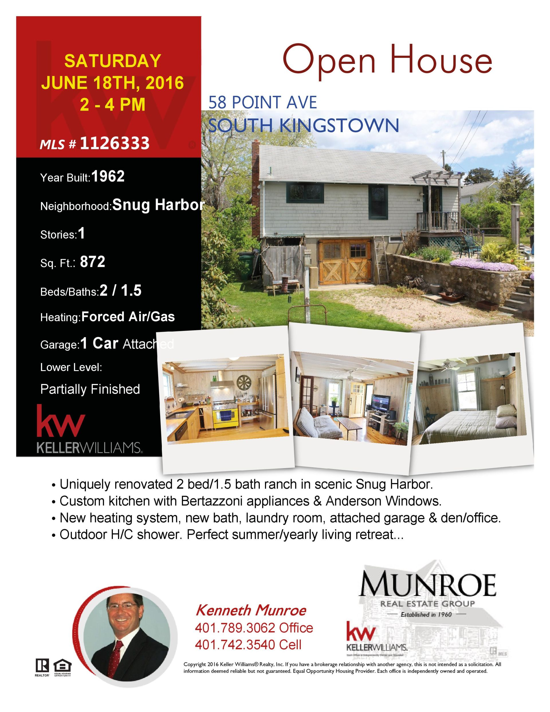 Open House in East Matunuck this Saturday!