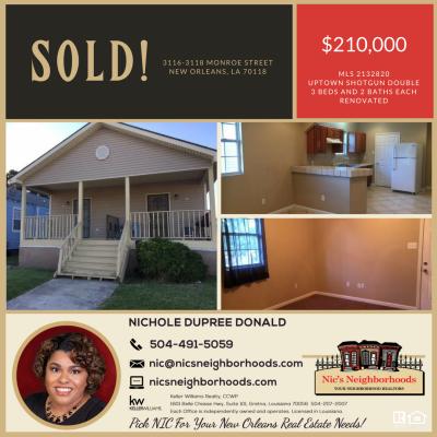 Just Sold! 3116-3118 Monroe Street