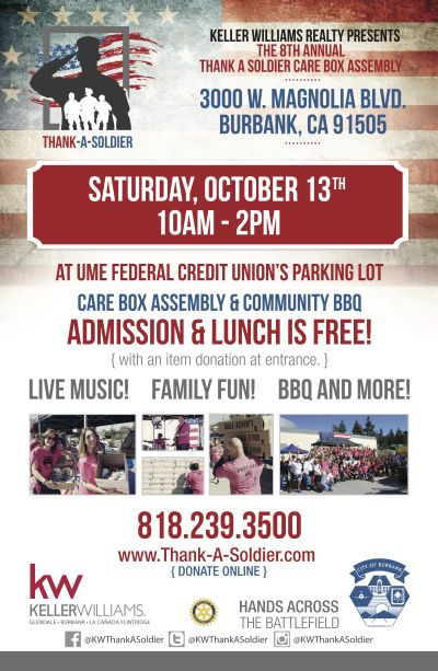 Thank A Soldier Care Box Assembly – Saturday, October 13th 10a – 2p