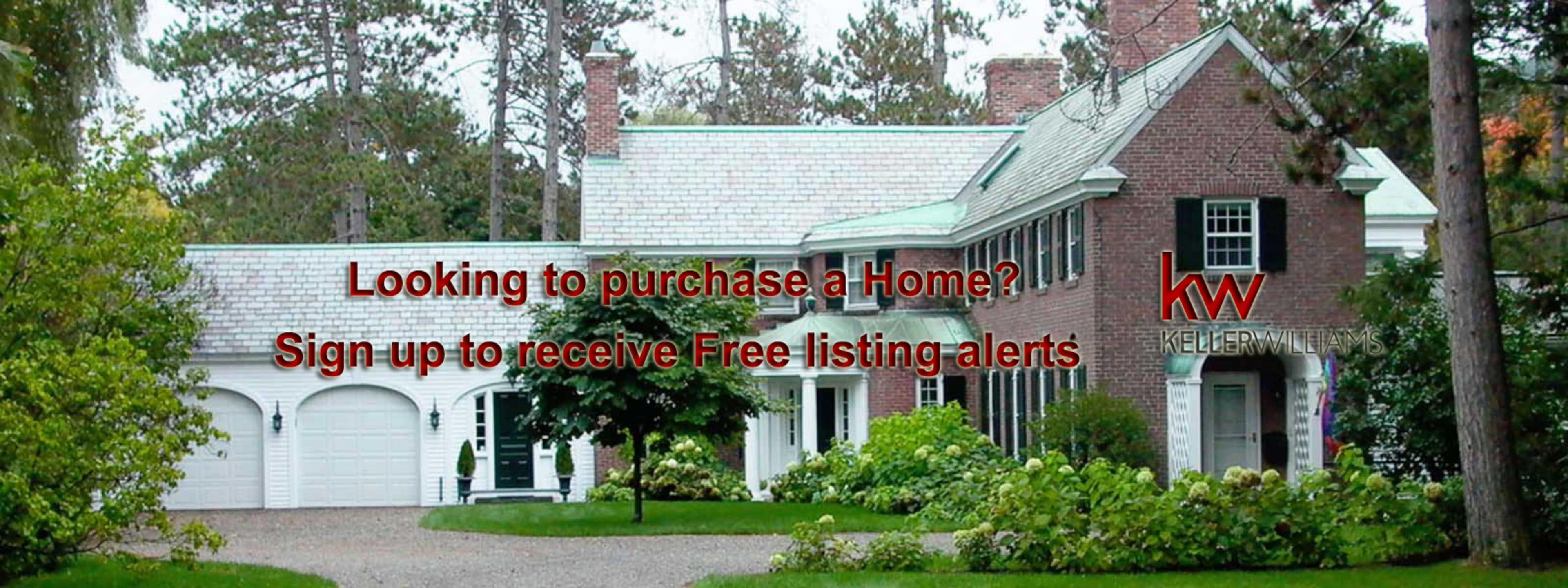 sign up to receive free home listing alerts
