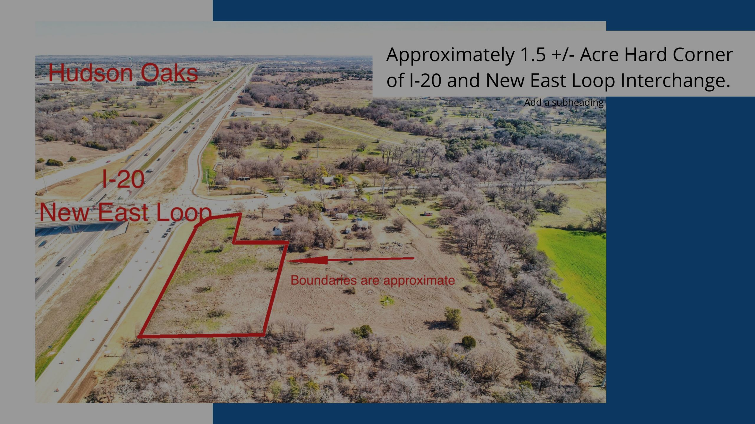 Ground Lease Hard Corner I20 and New East Loop 406 Center Point Road