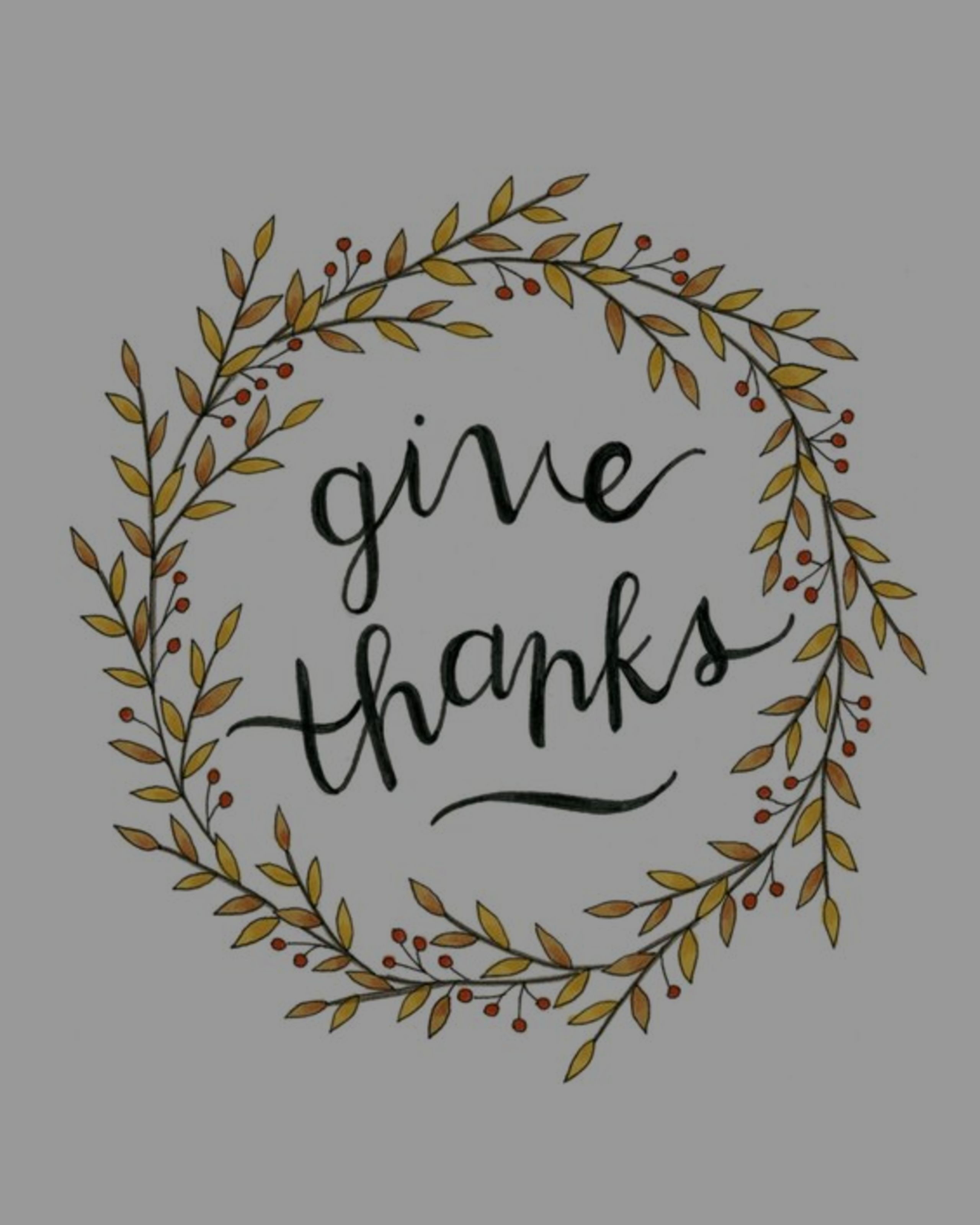 Purposefully Give Thanks