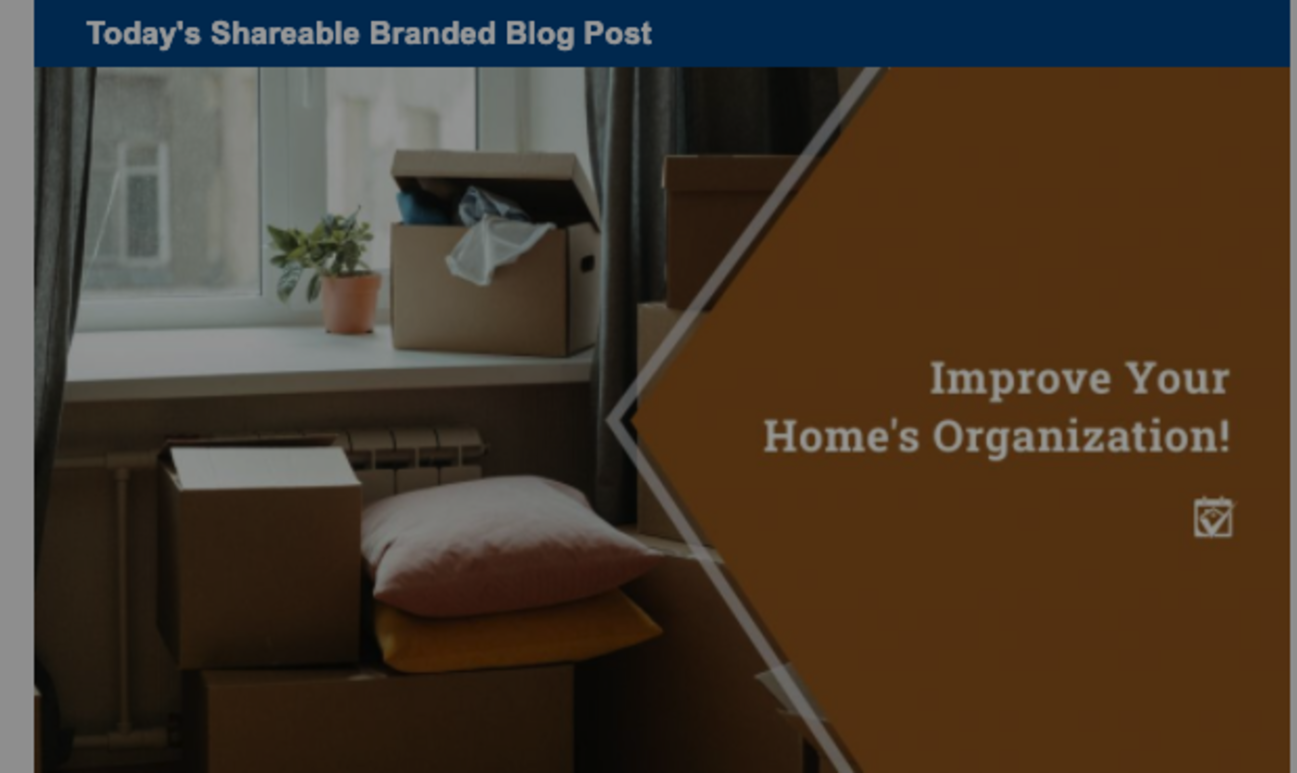 Improve Your Home's Organization!