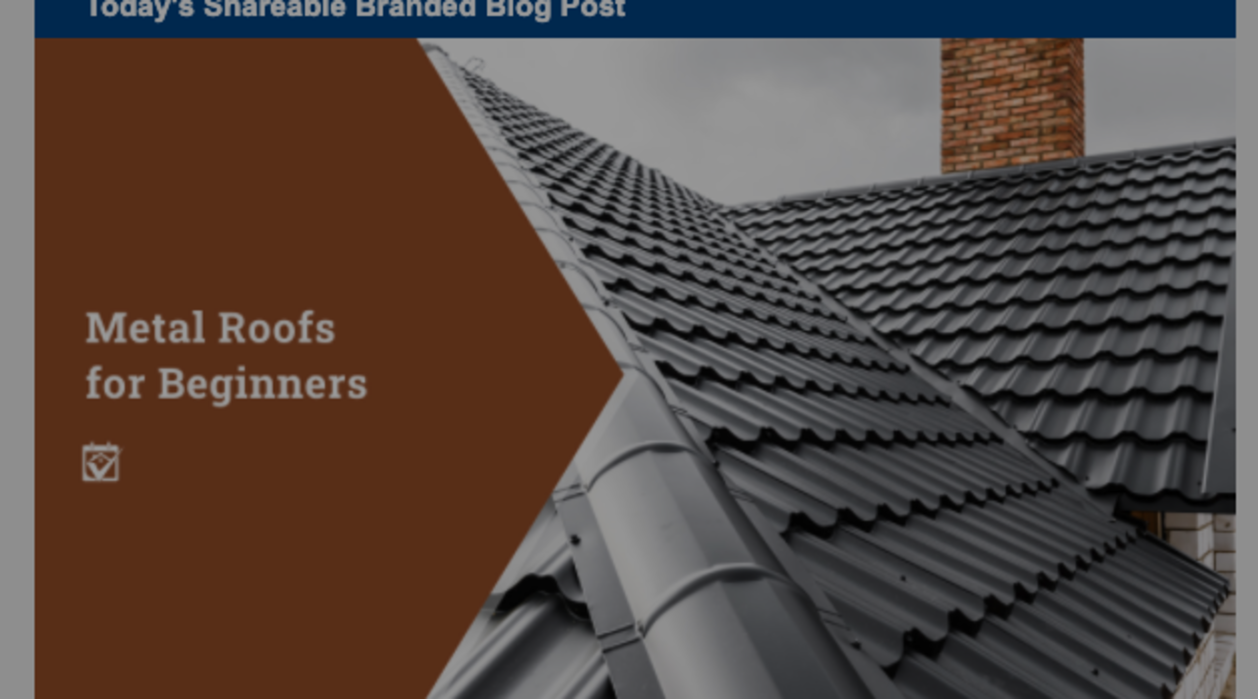Metal Roofs for Beginners