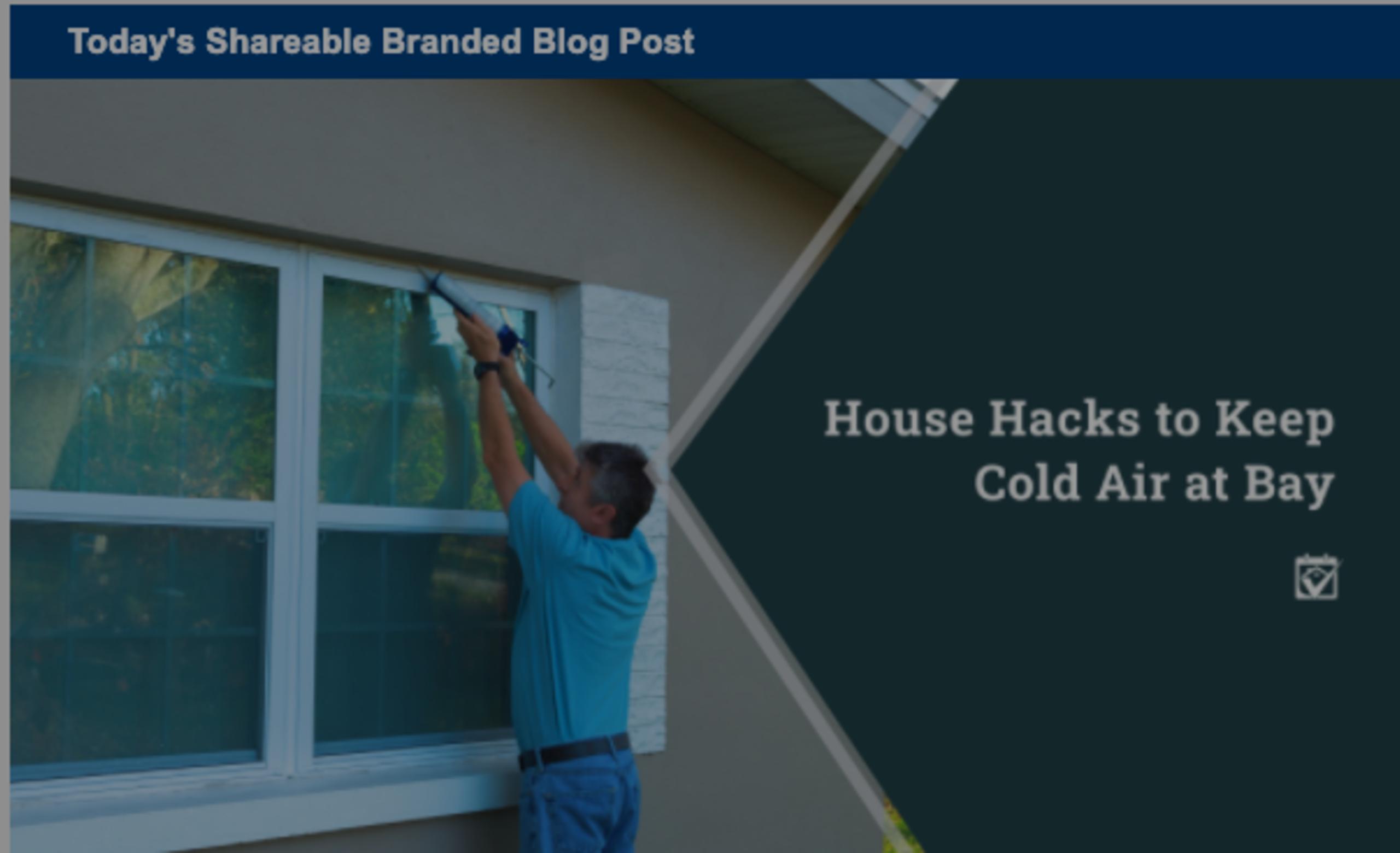 House Hacks to Keep Cold Air at Bay