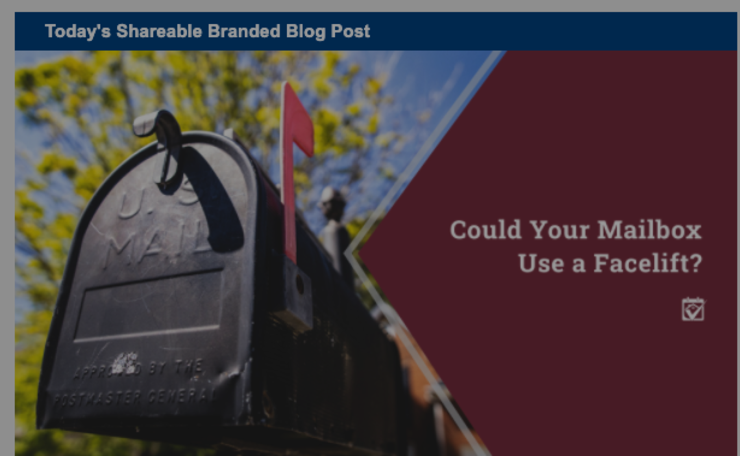 Could Your Mailbox Use a Facelift?