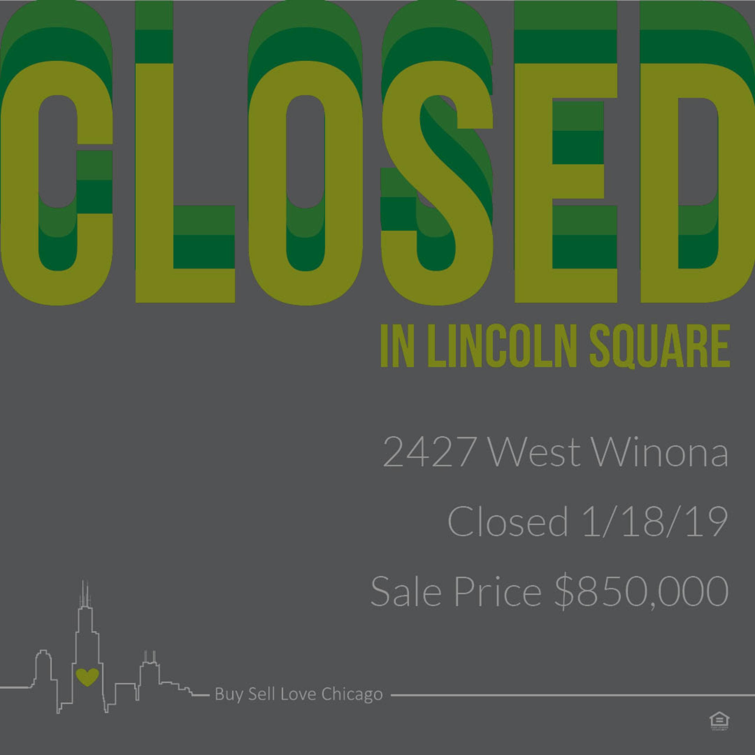 JUST SOLD: 2427 W Winona St, Chicago, IL 60625