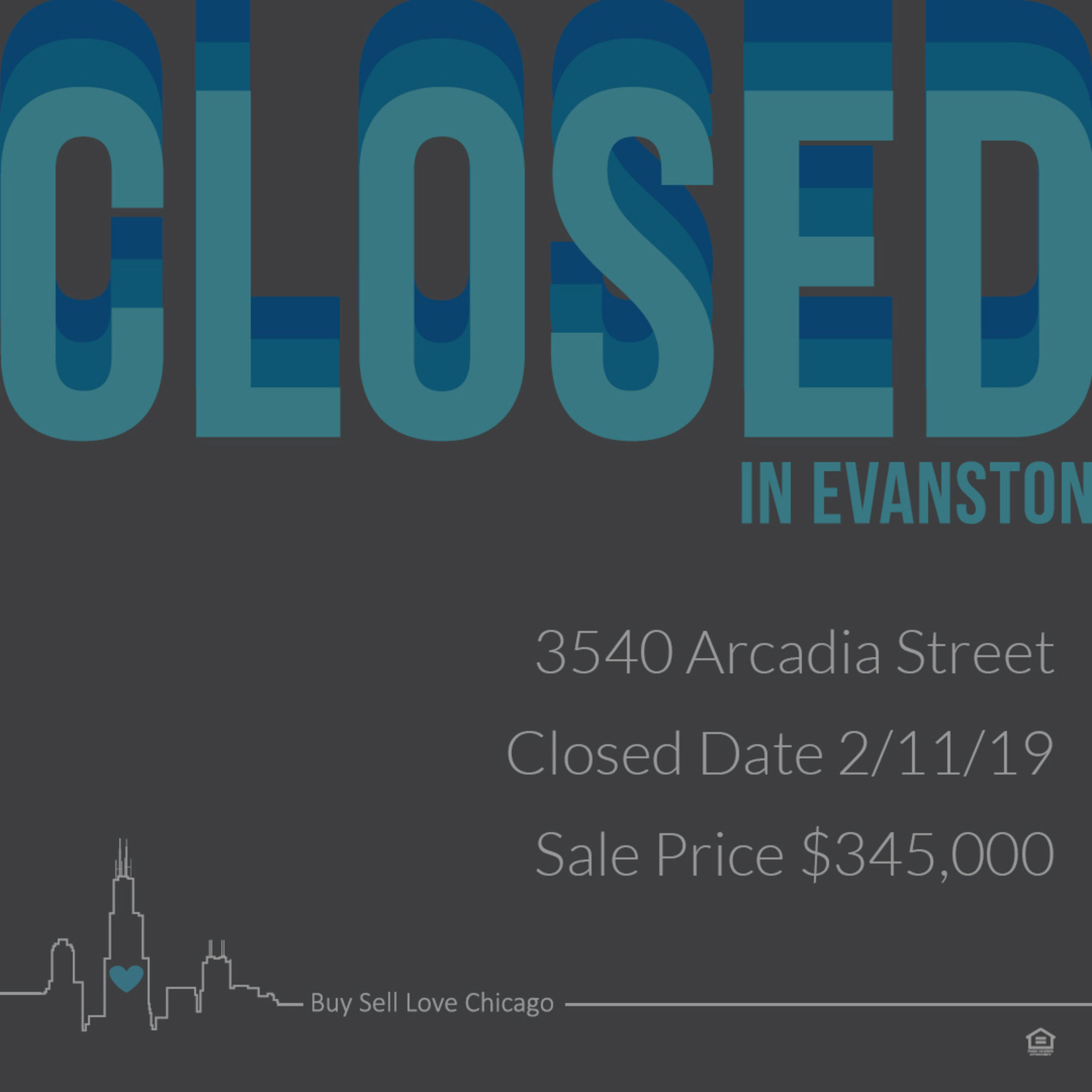 JUST SOLD: 3540 ARCADIA ST, EVANSTON, IL 60203