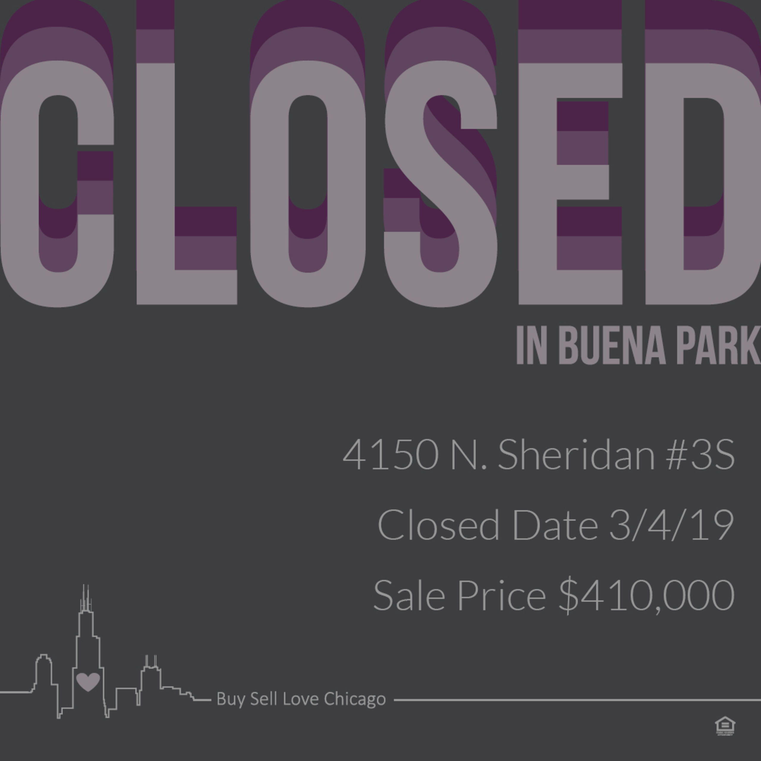 JUST SOLD: 4510 N SHERIDAN UNIT 3S, Chicago, IL 60613