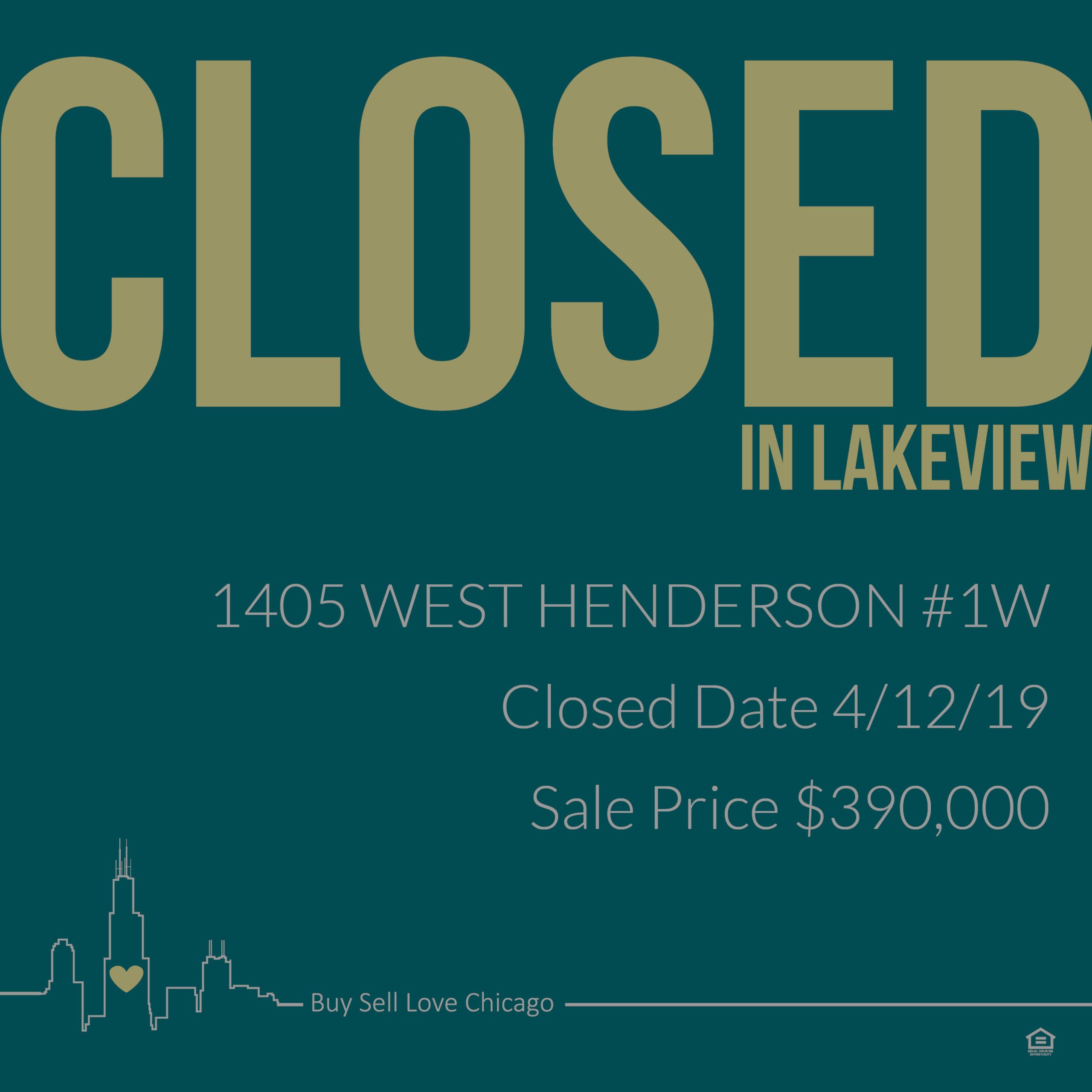 1405 W Henderson St, 1W Chicago, IL 60657