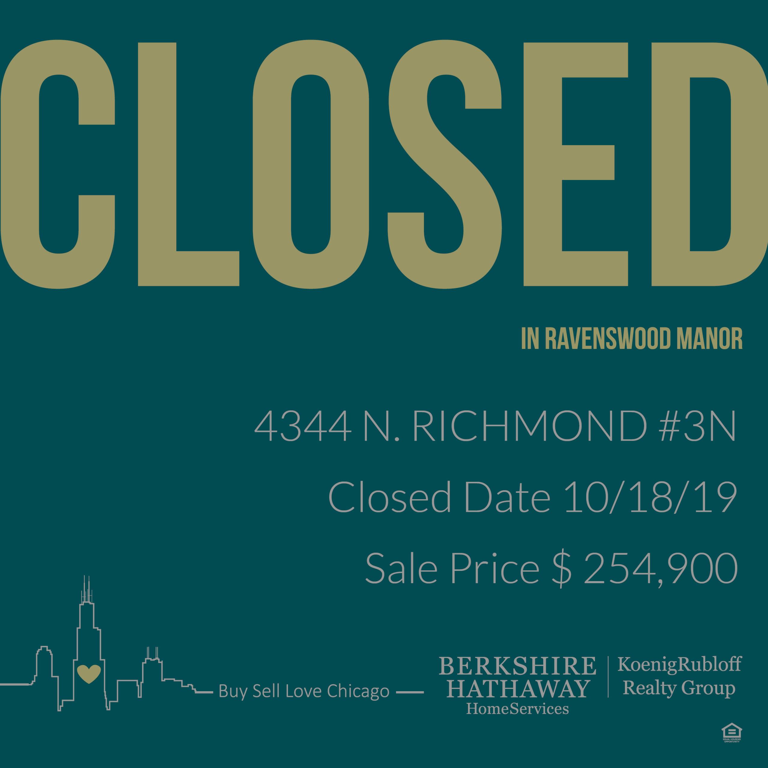 4344 N Richmond#3, Chicago, IL 60618