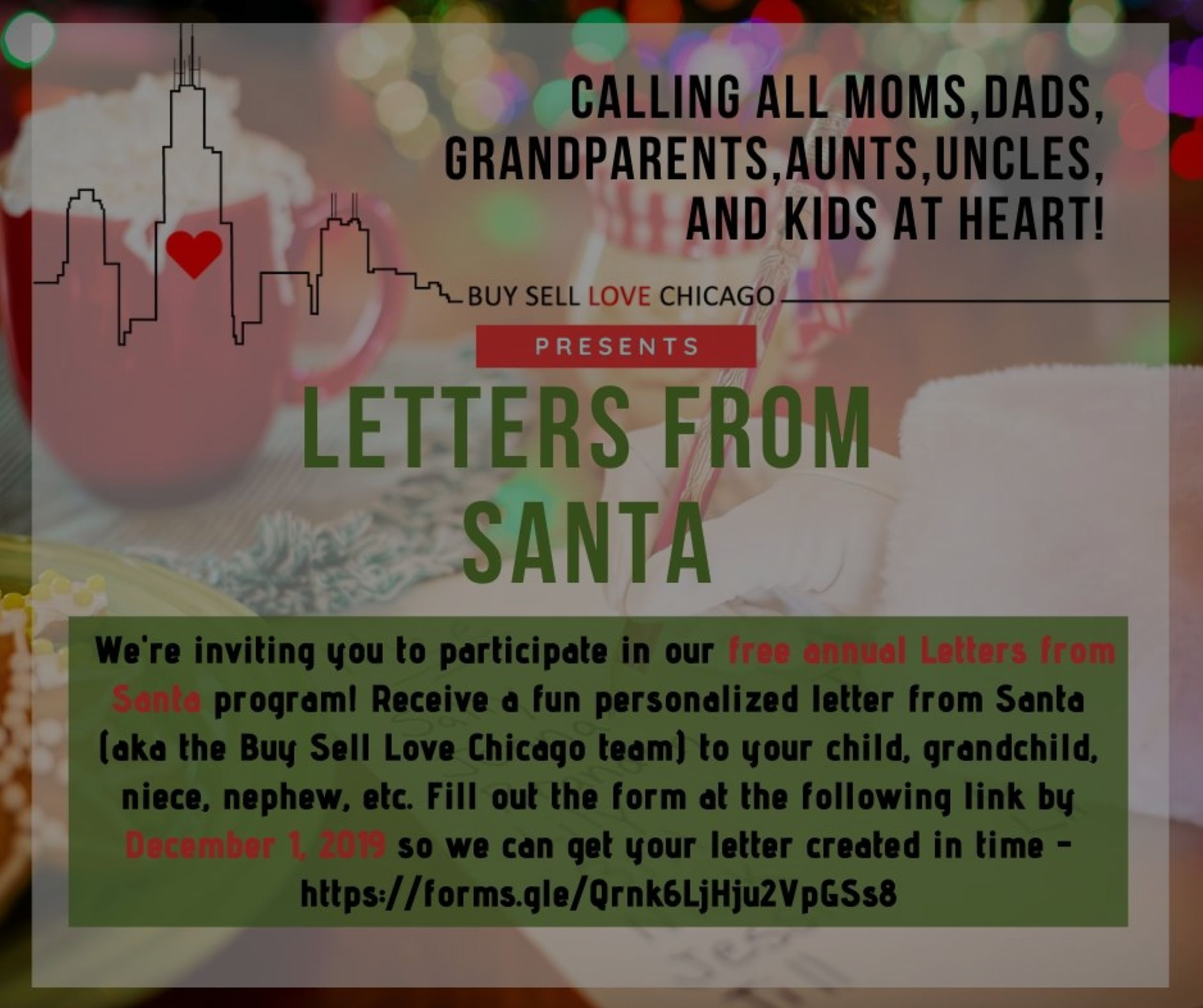 FREE LETTERS FROM SANTA!