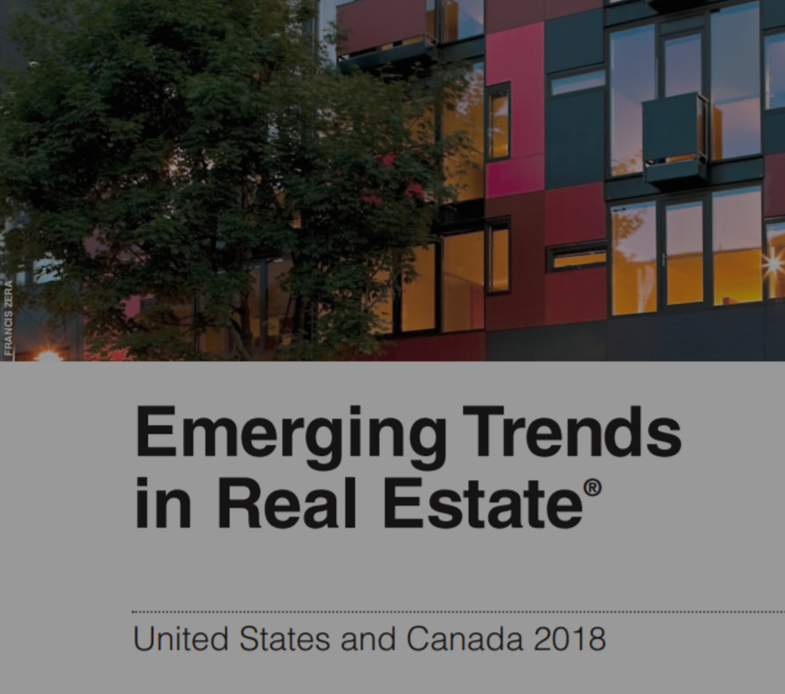 Emerging Trends in Real Estate in 2018