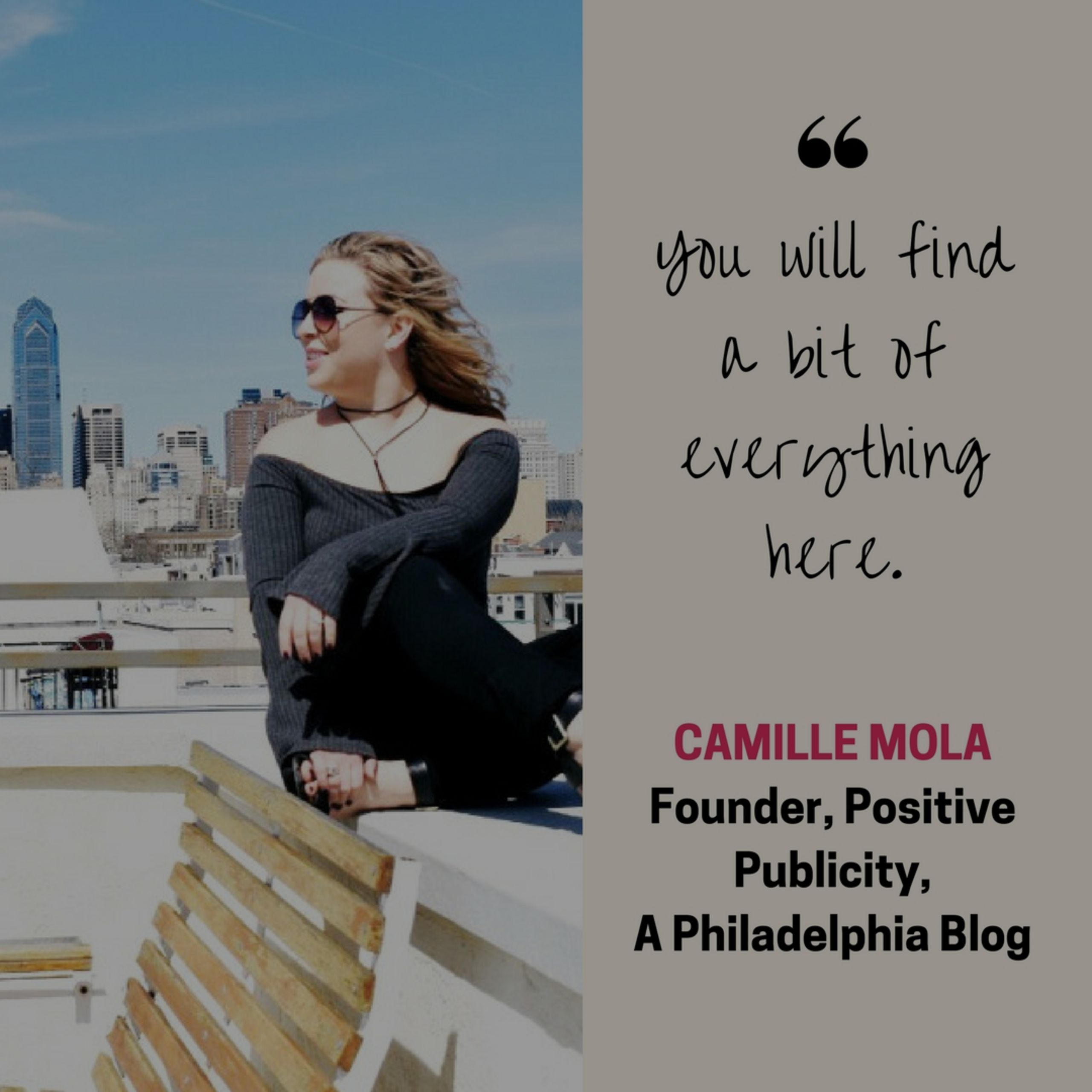 Camille Mola- Our Philly Influencer
