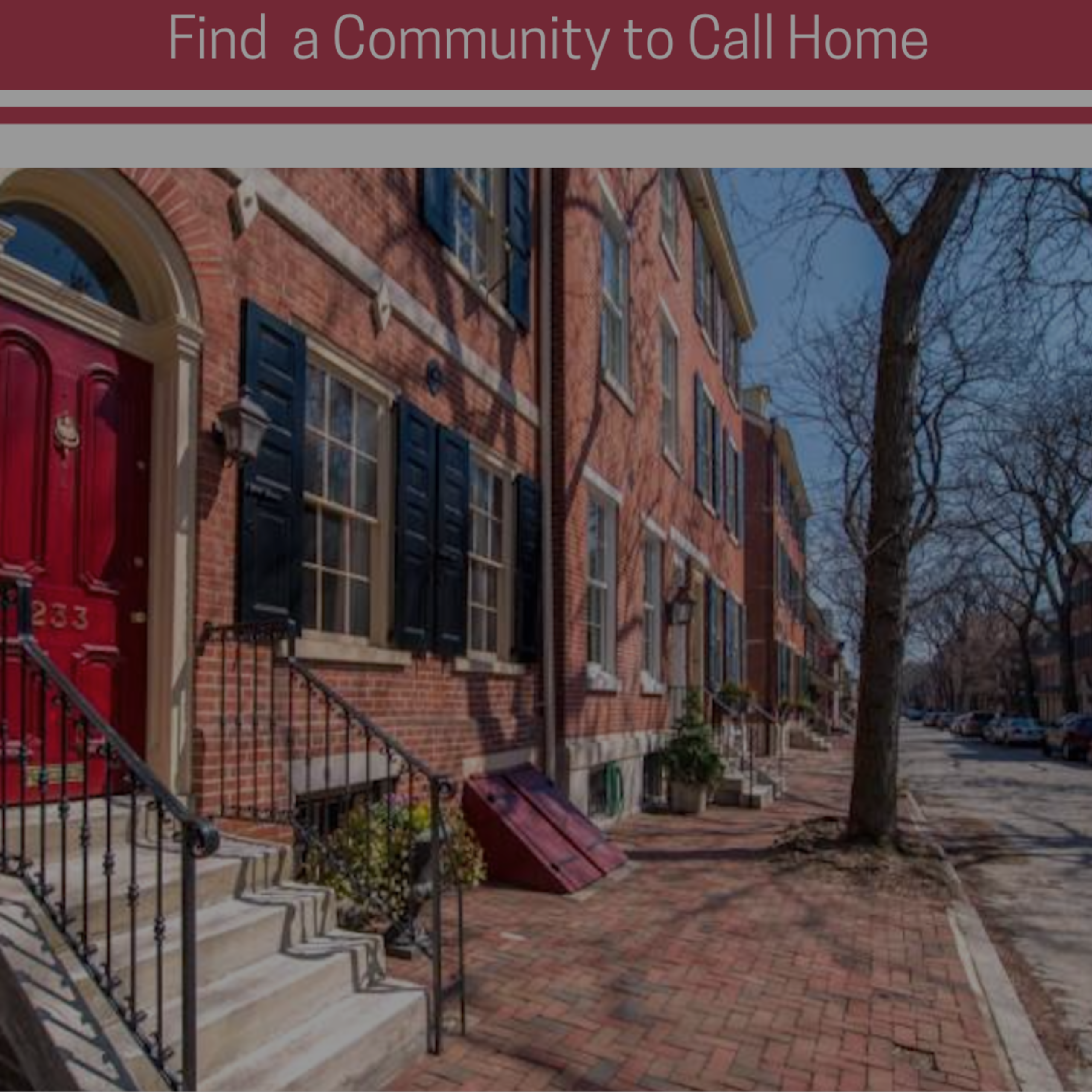 Find a Community to Call Home