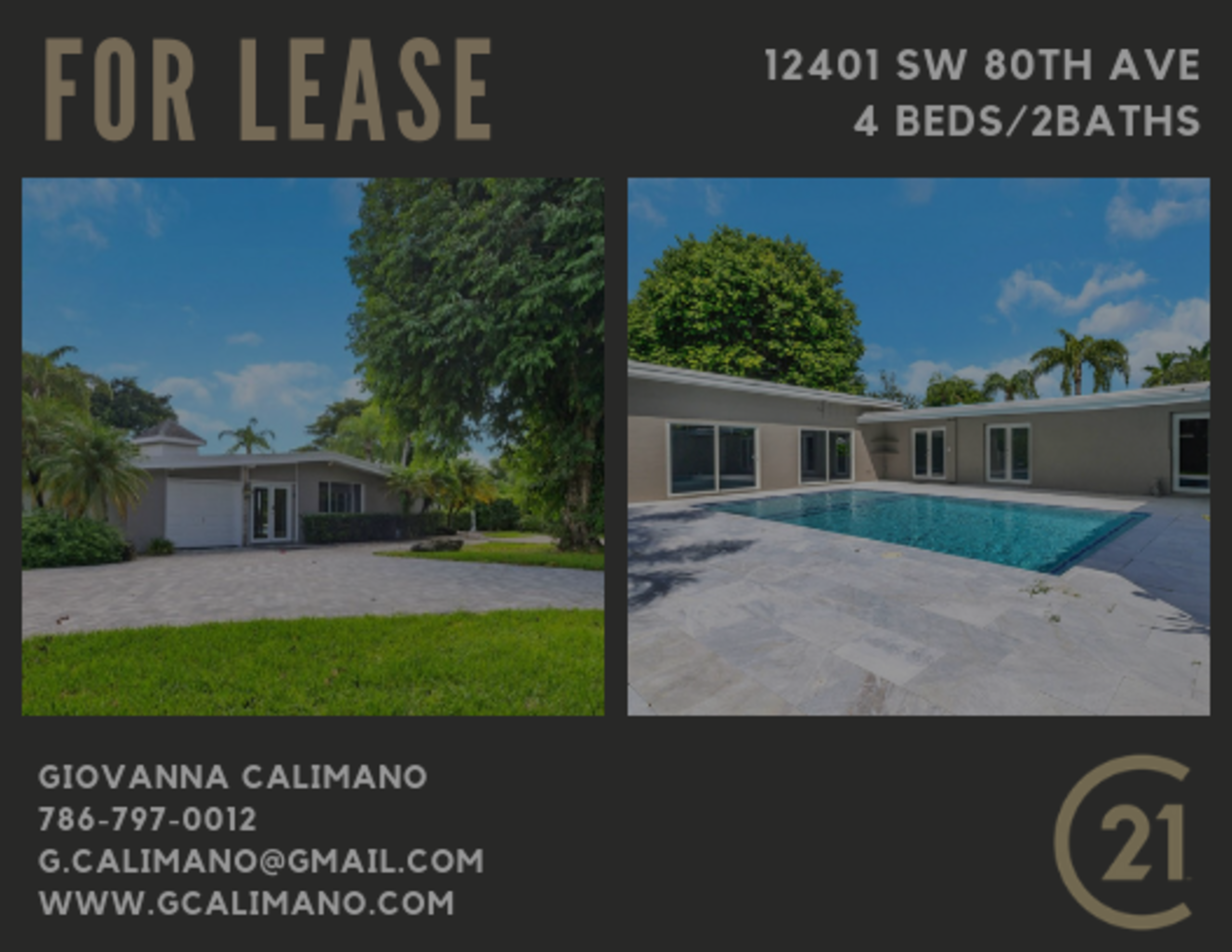 Beautiful Pinecrest Home for Lease! 4Bed/2Bath