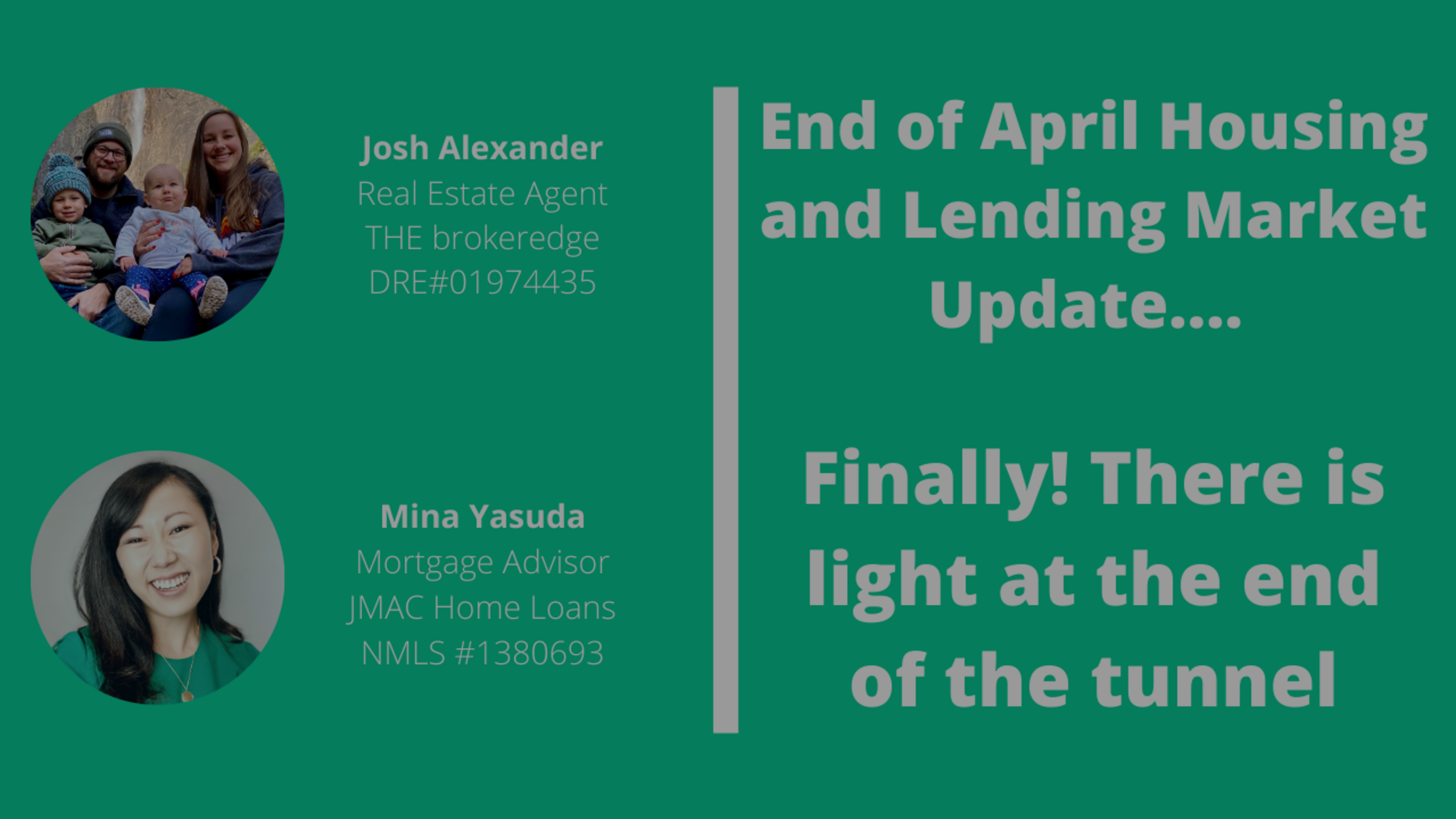 End of April Orange County Housing and Lending Market Update