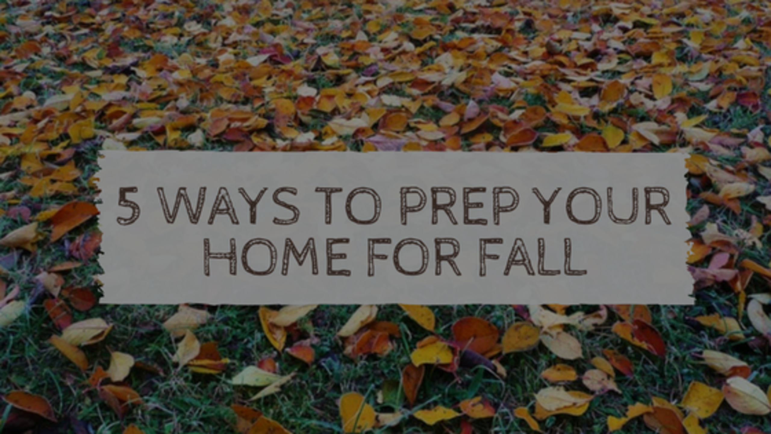 5 Ways to Prep Your Home for Autumn!