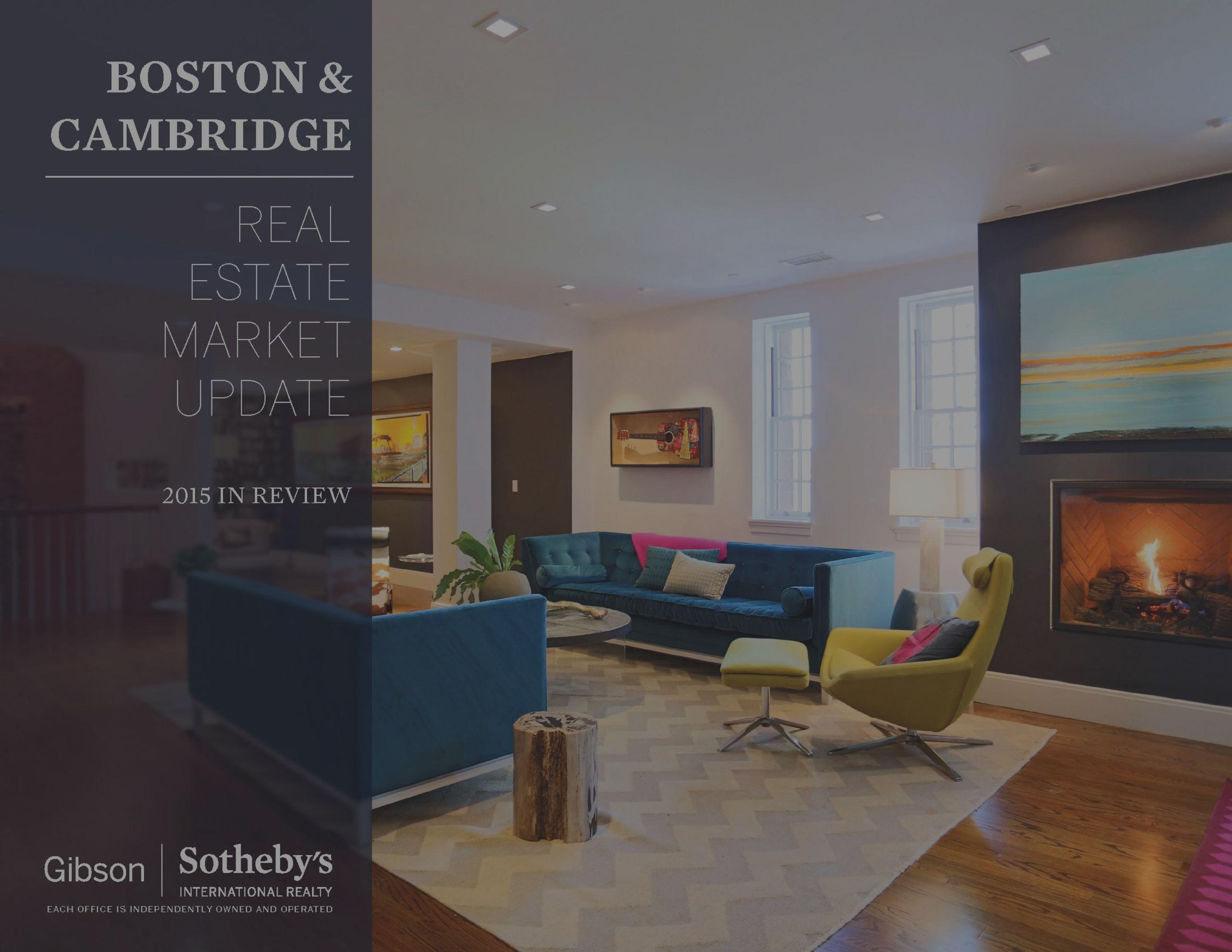Real Estate Market Update: Boston & Cambridge – 2015 in Review