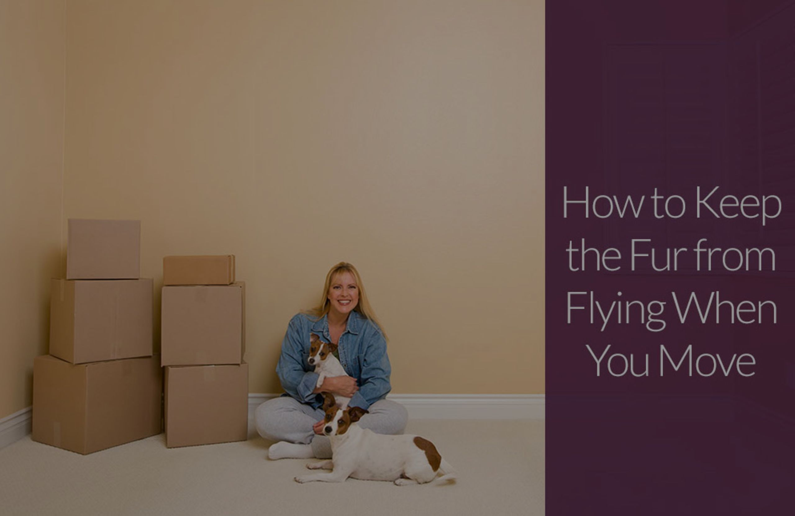 How to Keep the Fur from Flying When You Move