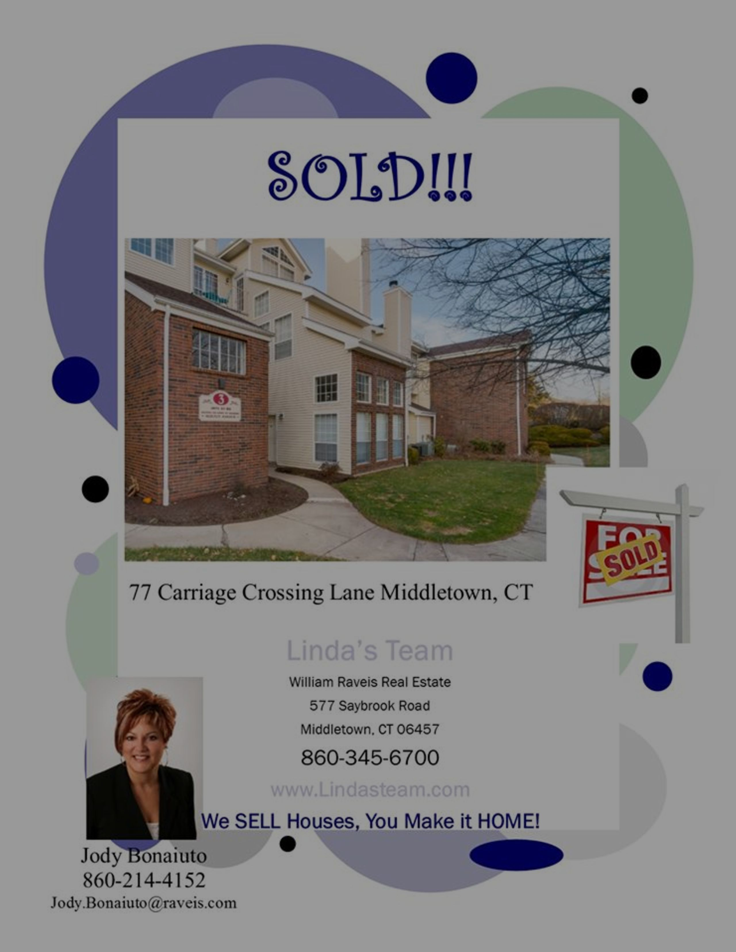 *SOLD* 77 Carriage Crossing Lane, Middletown, CT