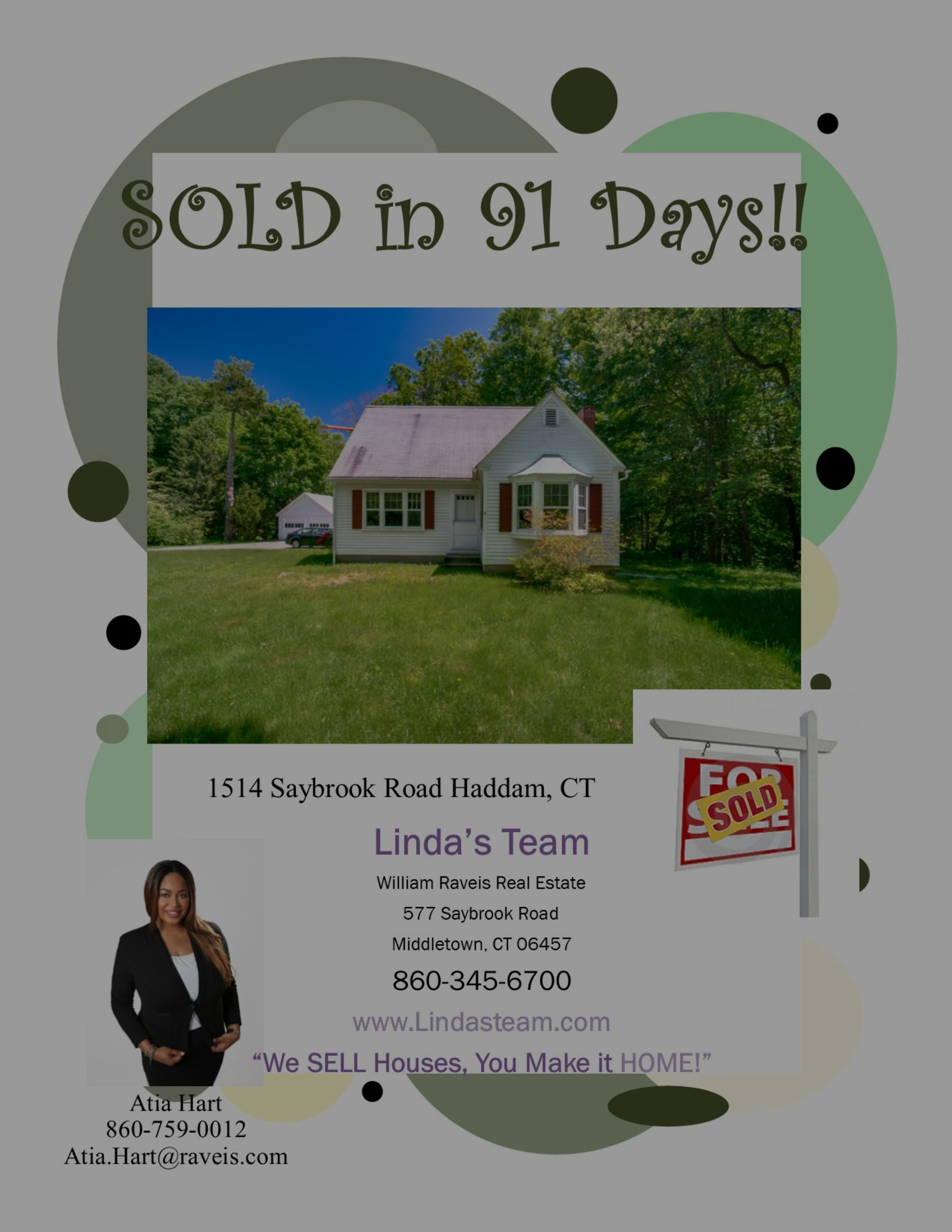 SOLD in 91 Days in Haddam!
