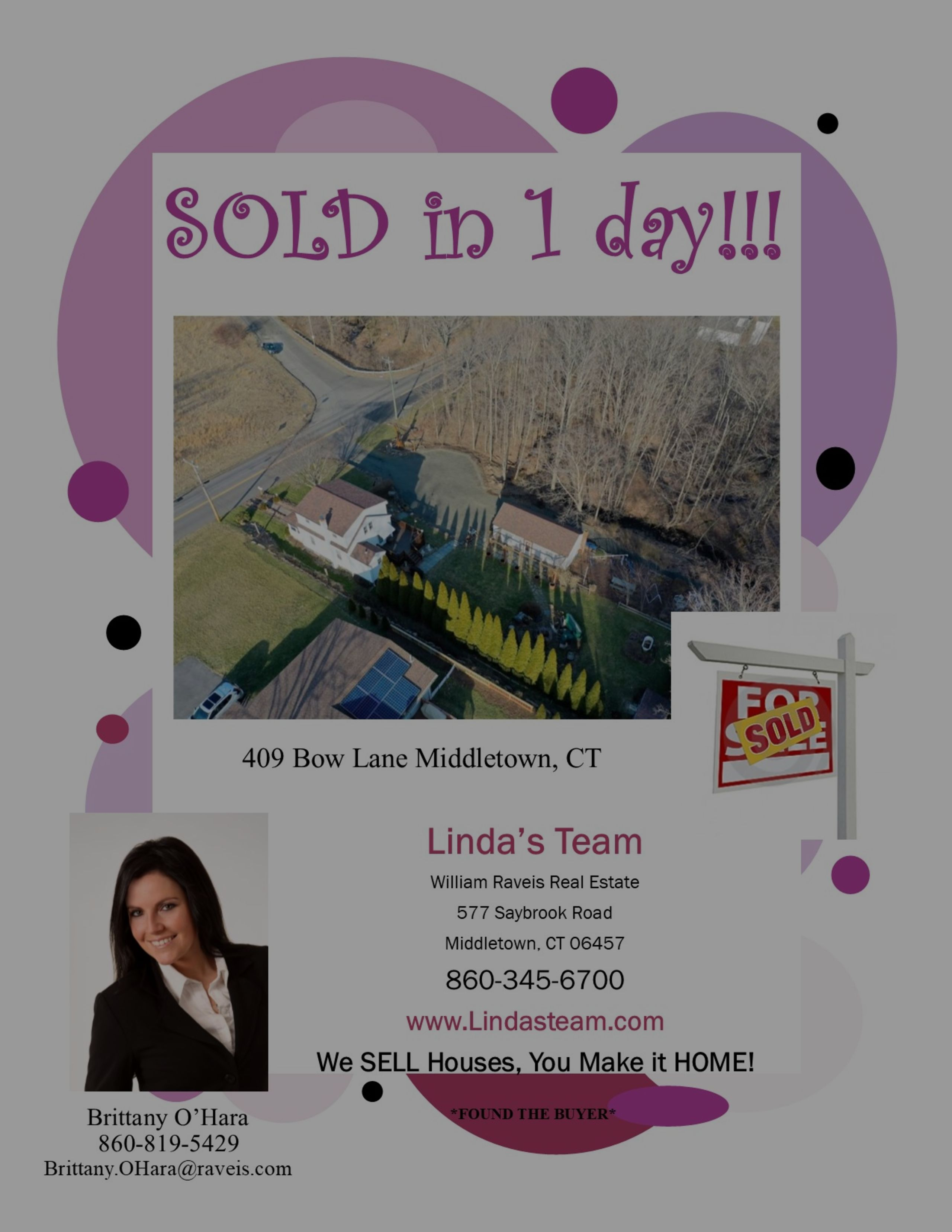 SOLD in 1 Days in Middletown!