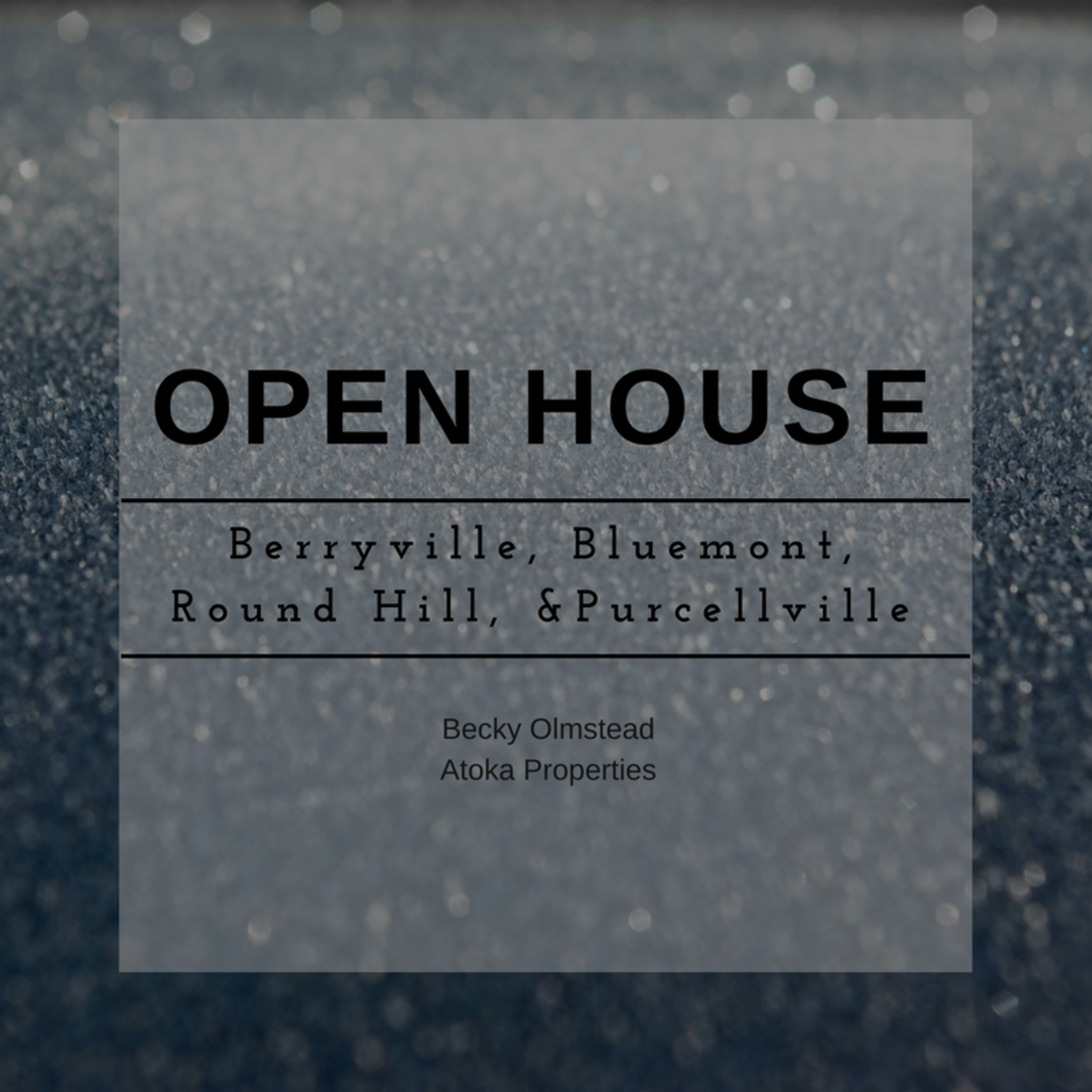 NOVEMBER 25 AND 26 OPEN HOUSE