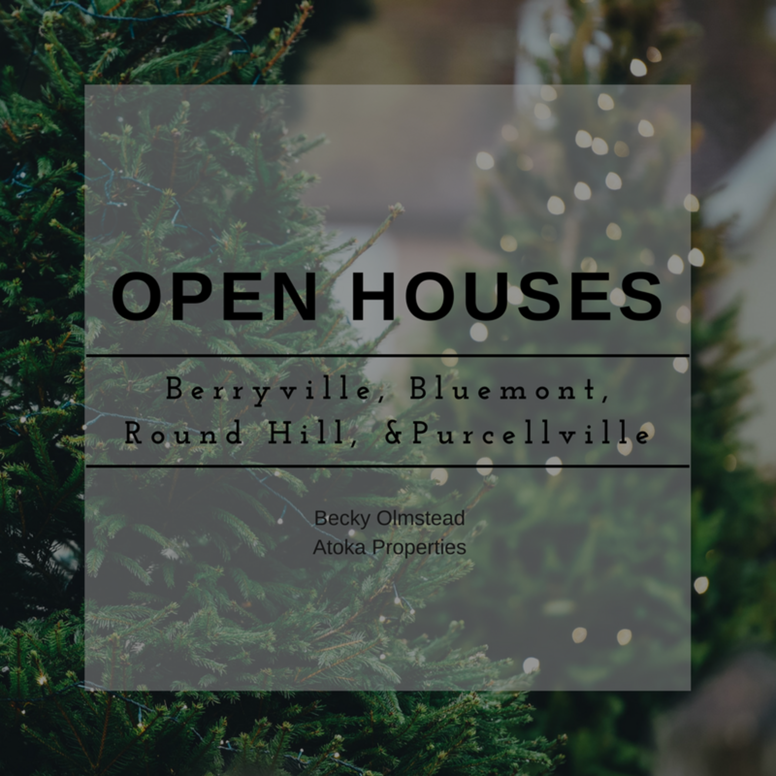 December 2nd and 3rd Open House