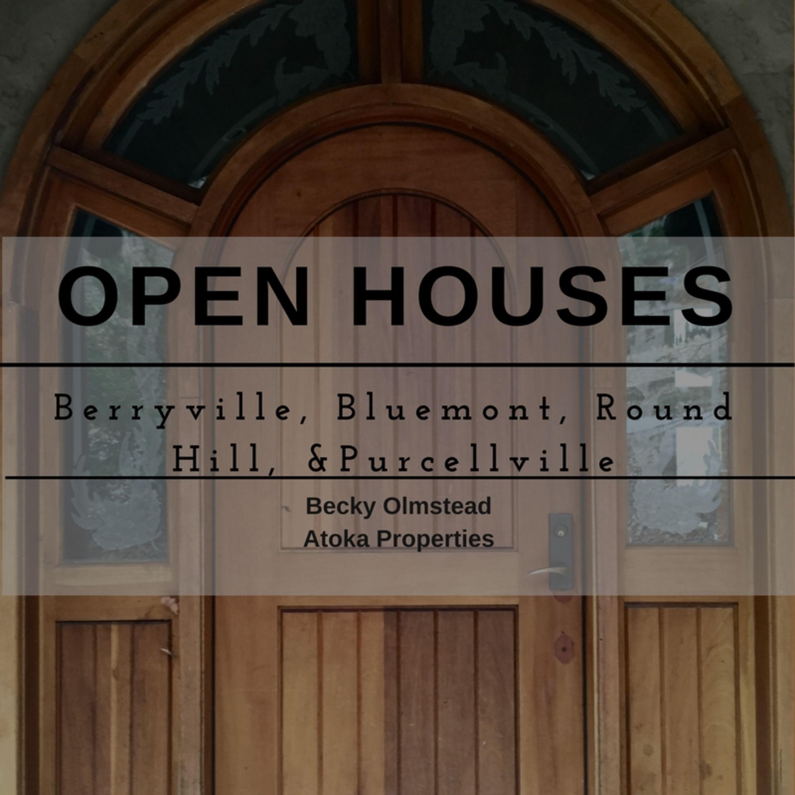 OPEN HOUSE LIST 12/9/17 – 12/10/17