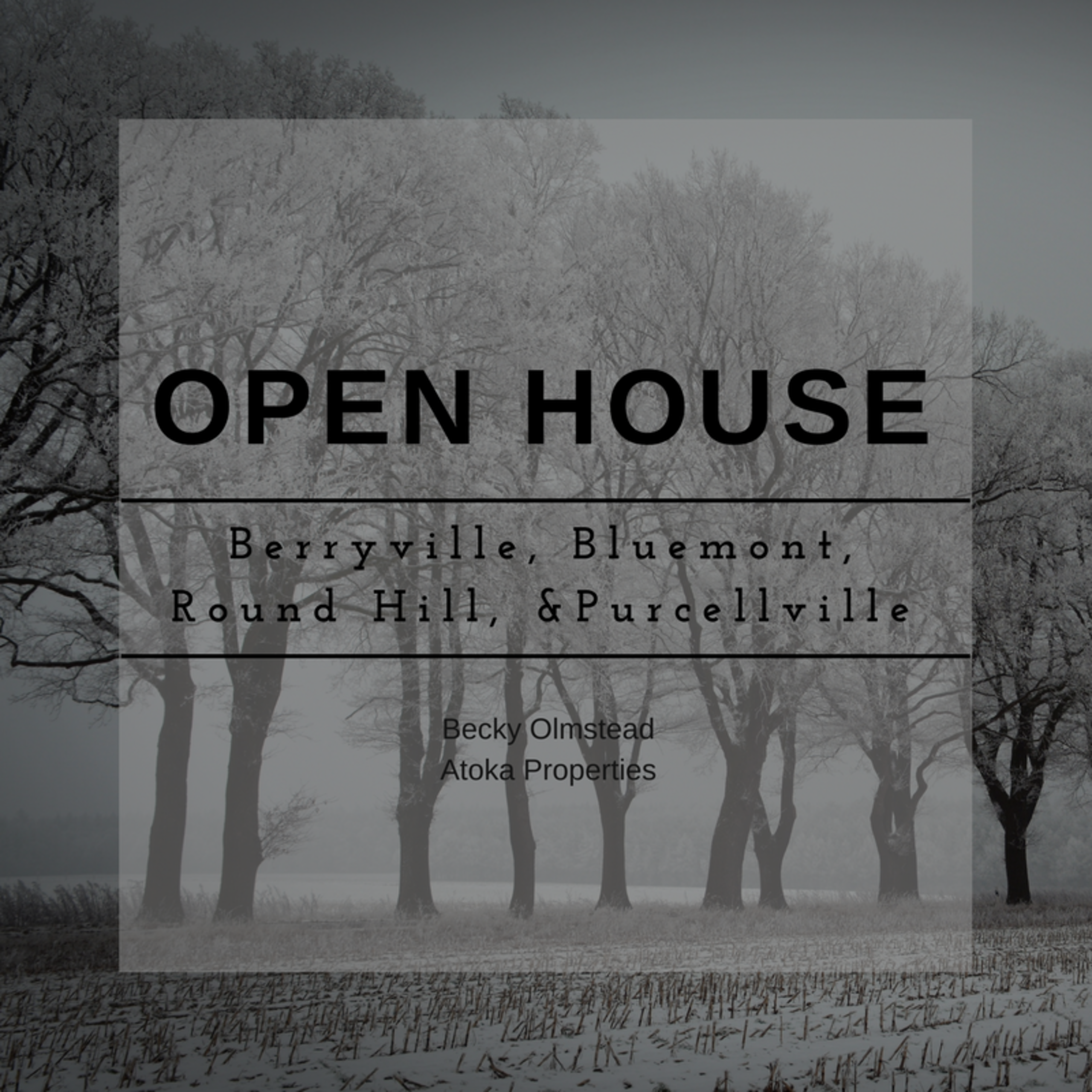 OPEN HOUSE LIST 01/13/18 – 01/14/18
