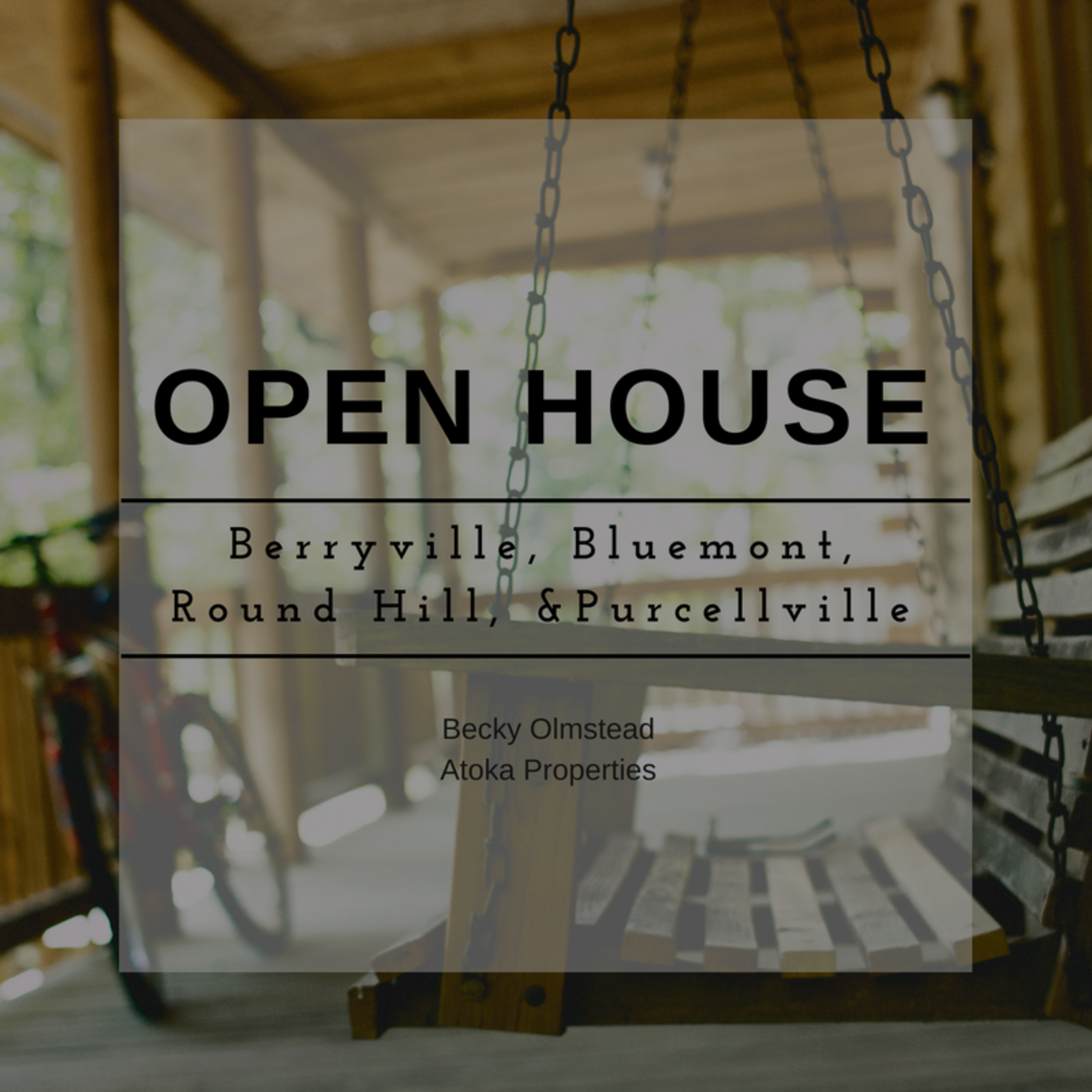OPEN HOUSE LIST 1/20/18 – 1/21/18