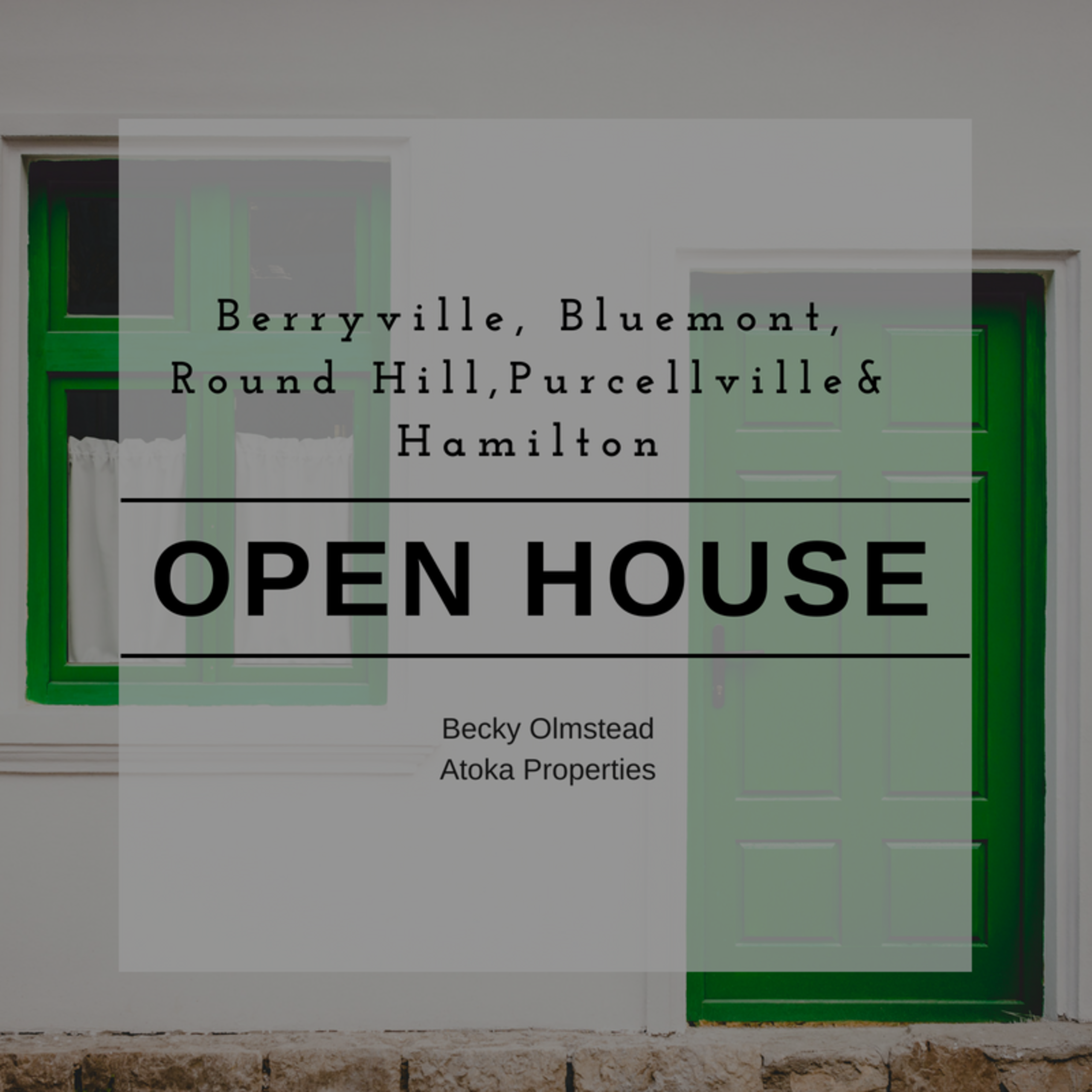 OPEN HOUSE LIST 9/1/2018 – 9/2/2018