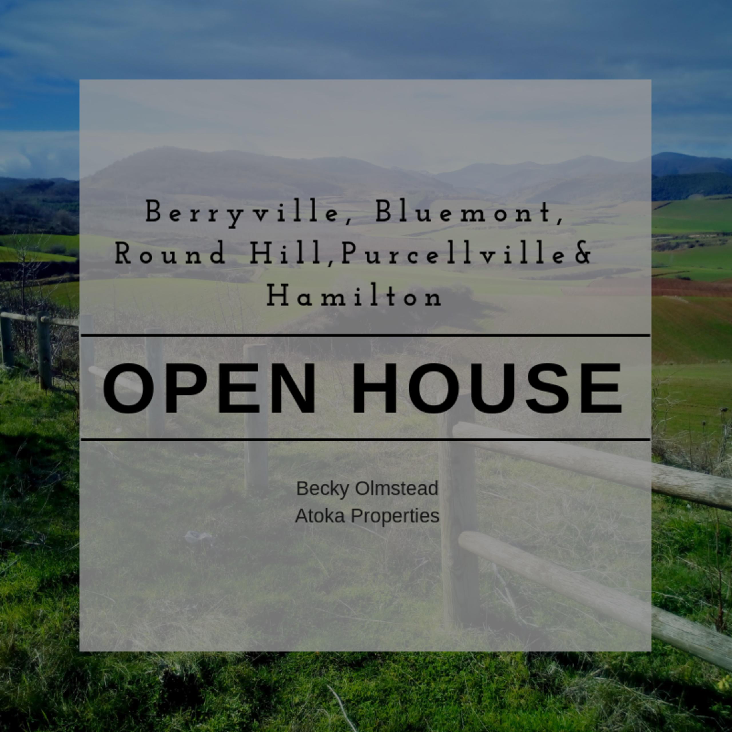OPEN HOUSE LIST 9/8/18 – 9/9/18
