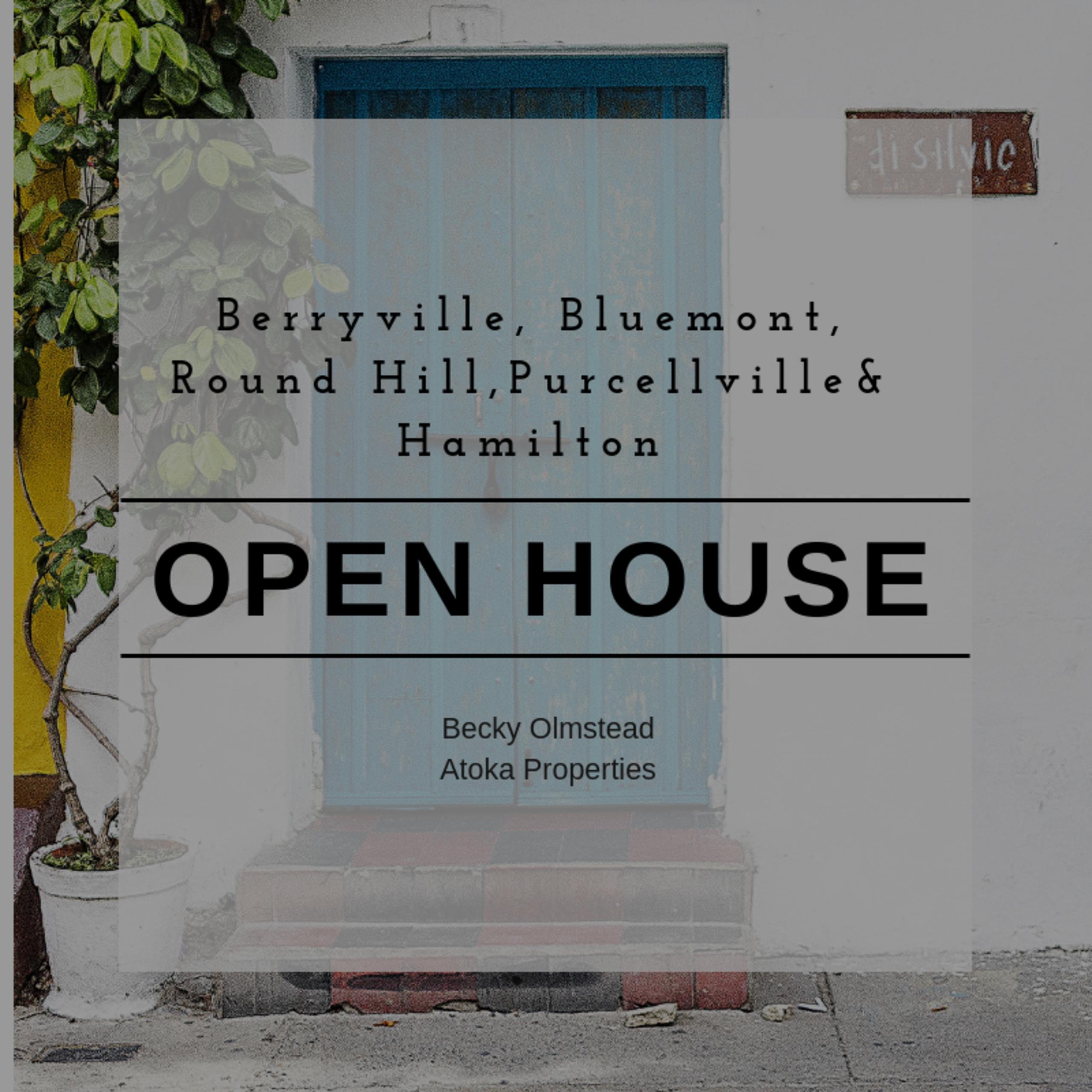 OPEN HOUSE LIST 9/15/18 – 9/16/18