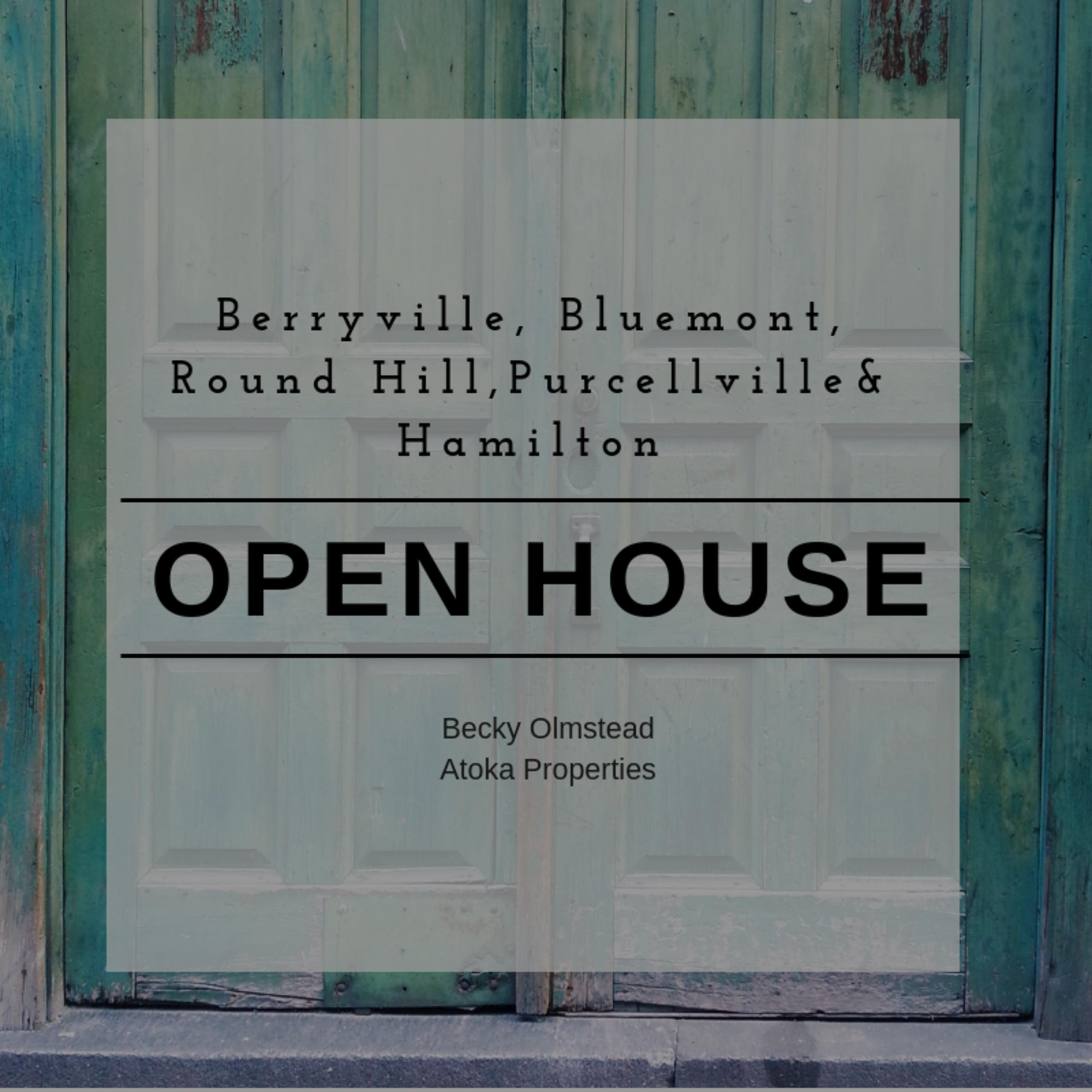 OPEN HOUSE LIST 10/6/18 – 10/7/18