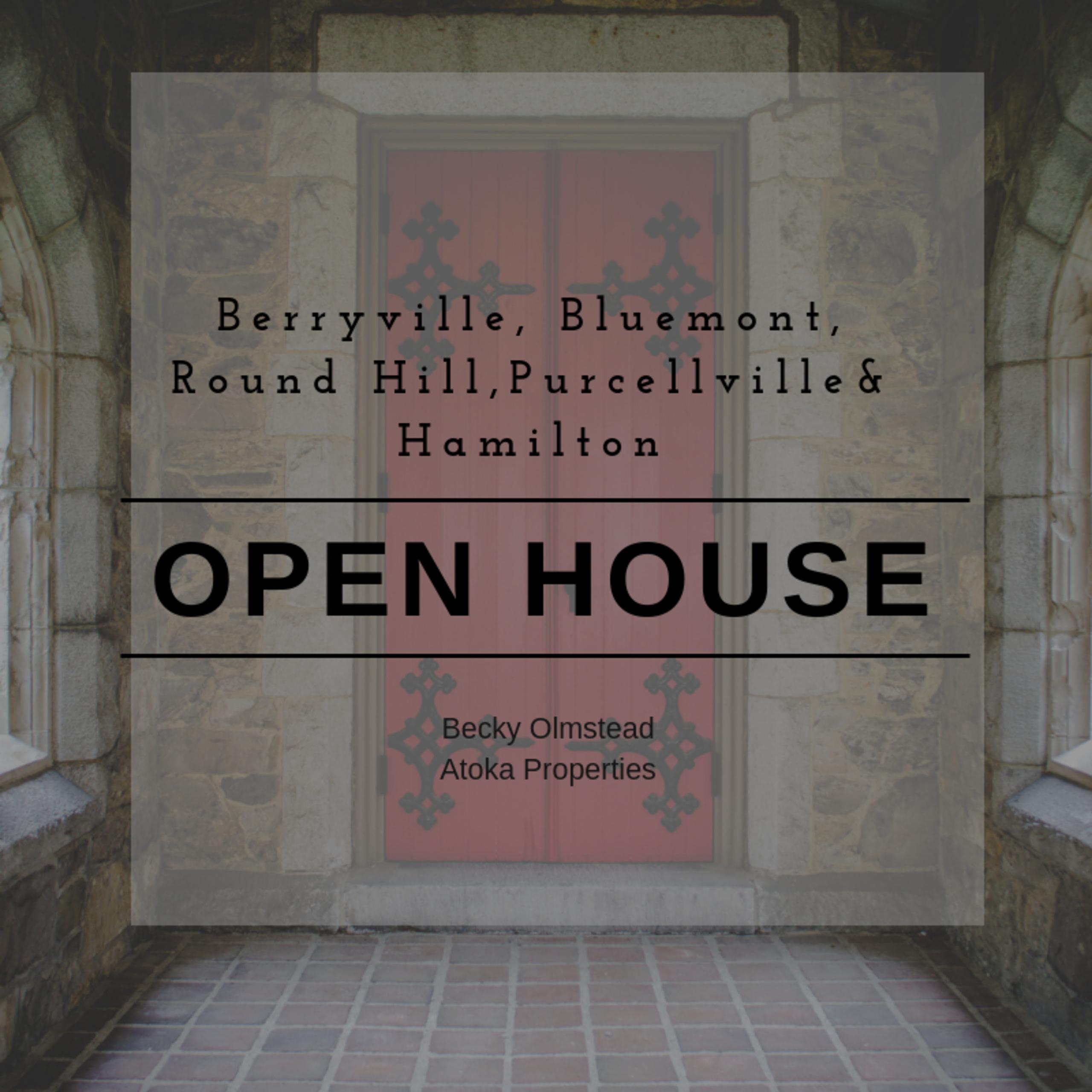 OPEN HOUSE LIST 10/13/18 – 10/14/18