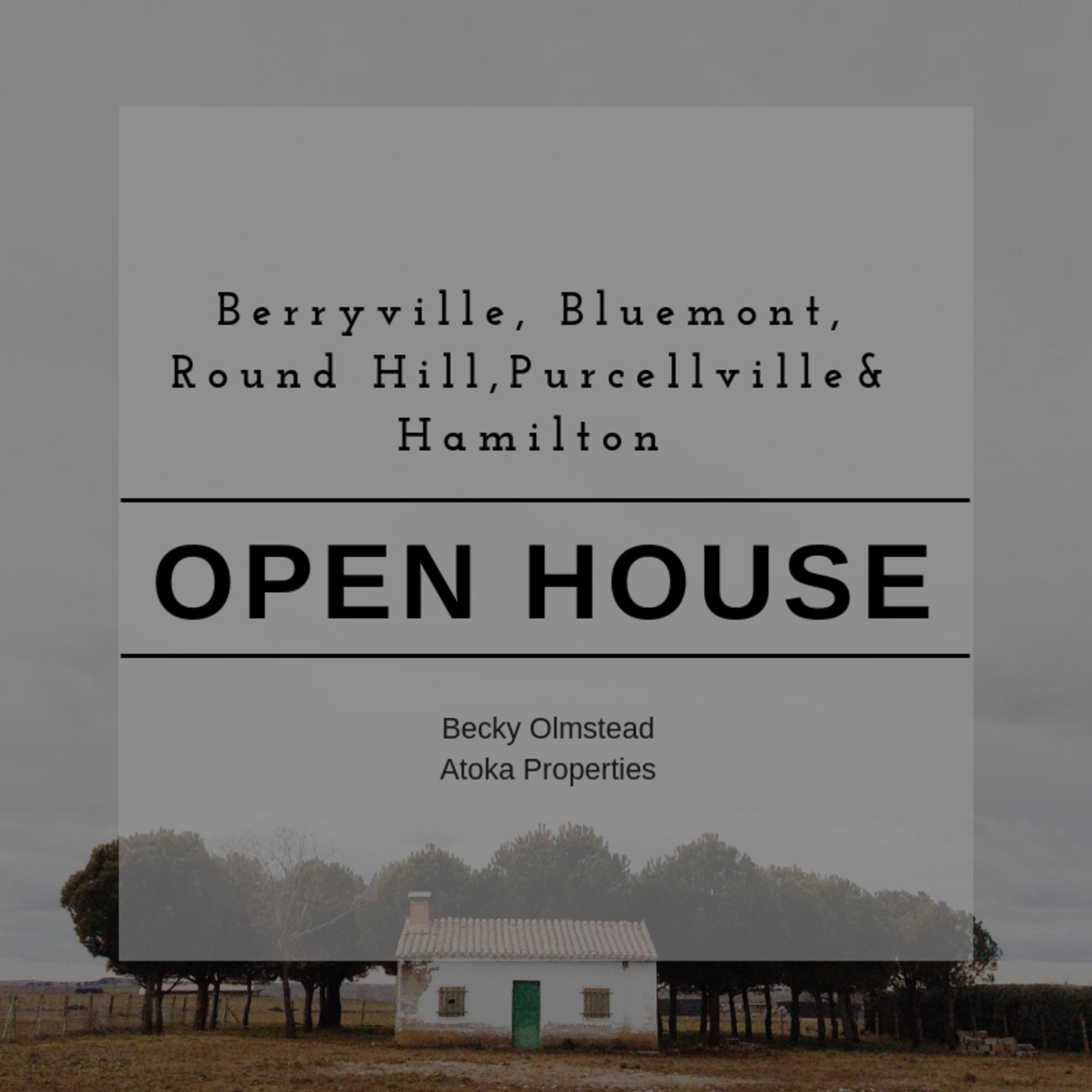 OPEN HOUSE LIST 9/20/18 – 921/18