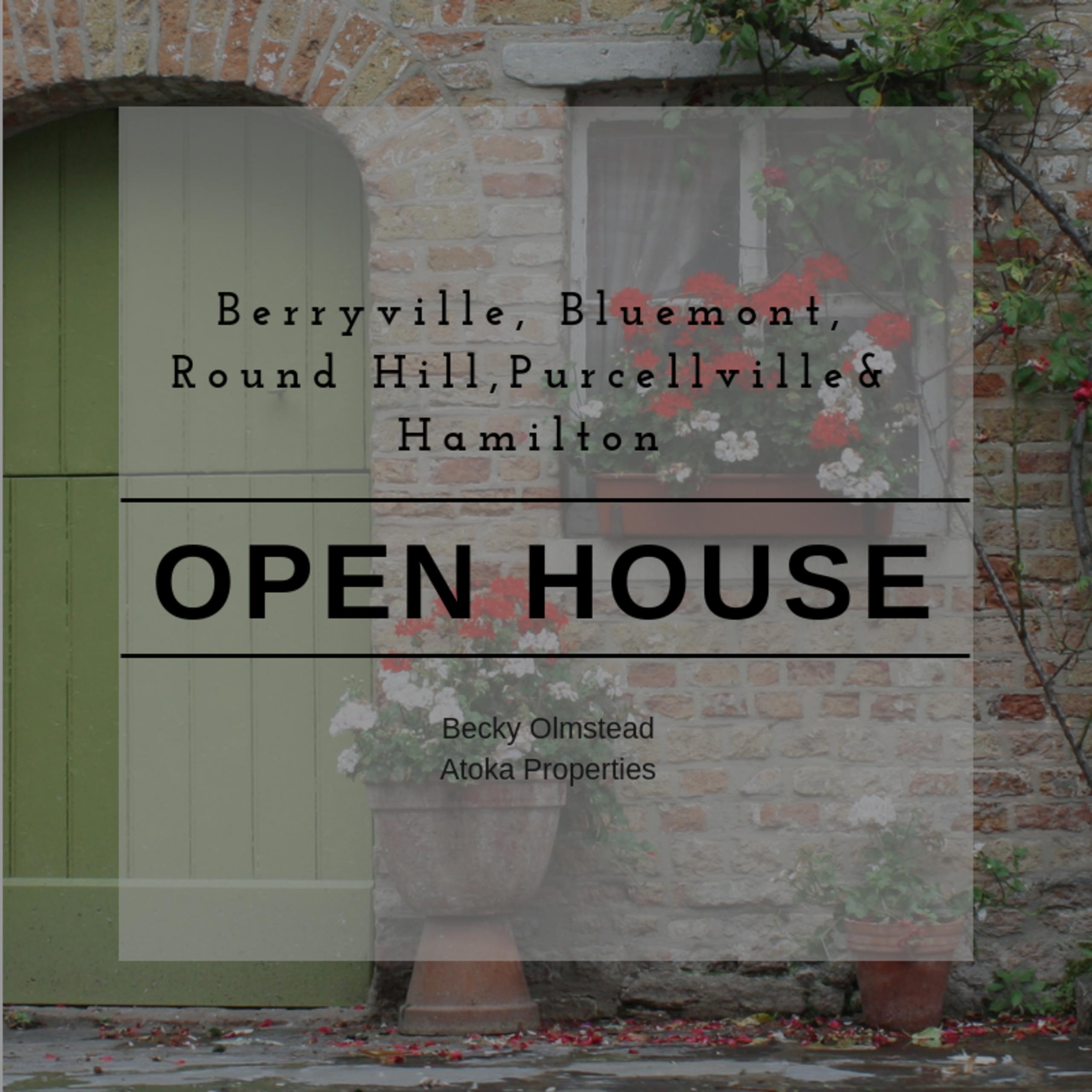 OPEN HOUSE LIST 9/27/18 – 9/28/18