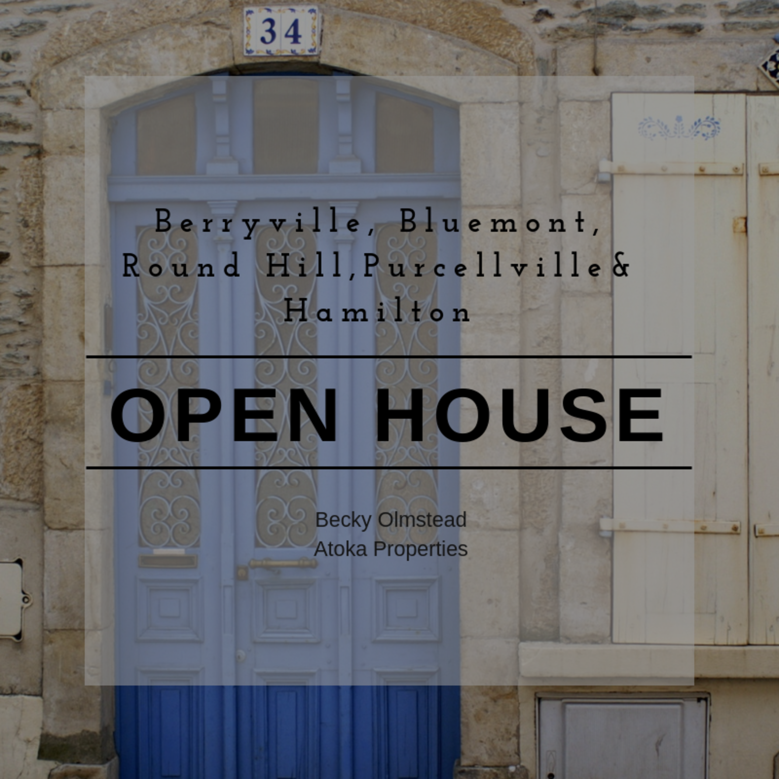 OPEN HOUSE LIST 10/3/18 – 10/4/18