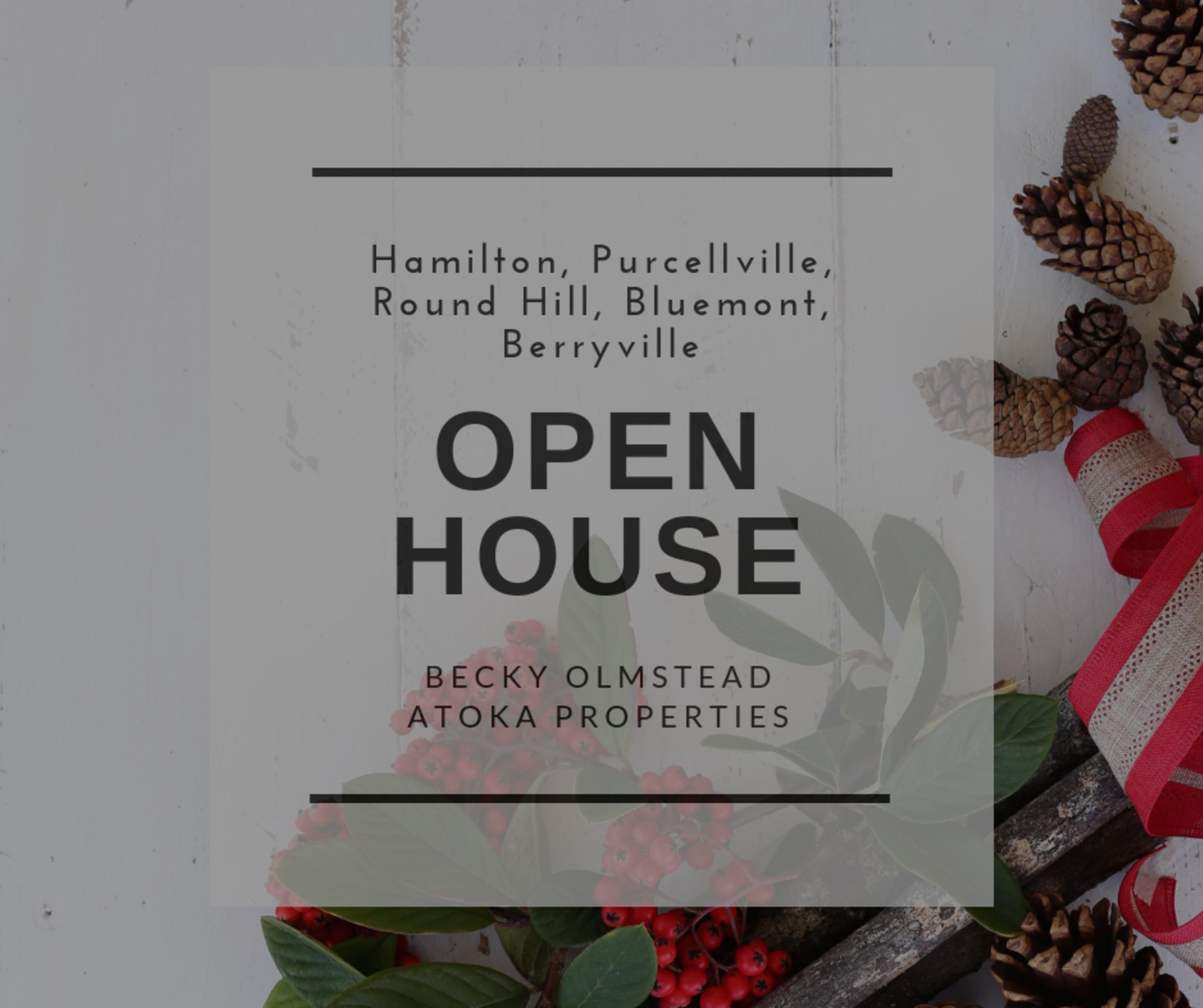 Open House 12/1/18 – 12/2/18