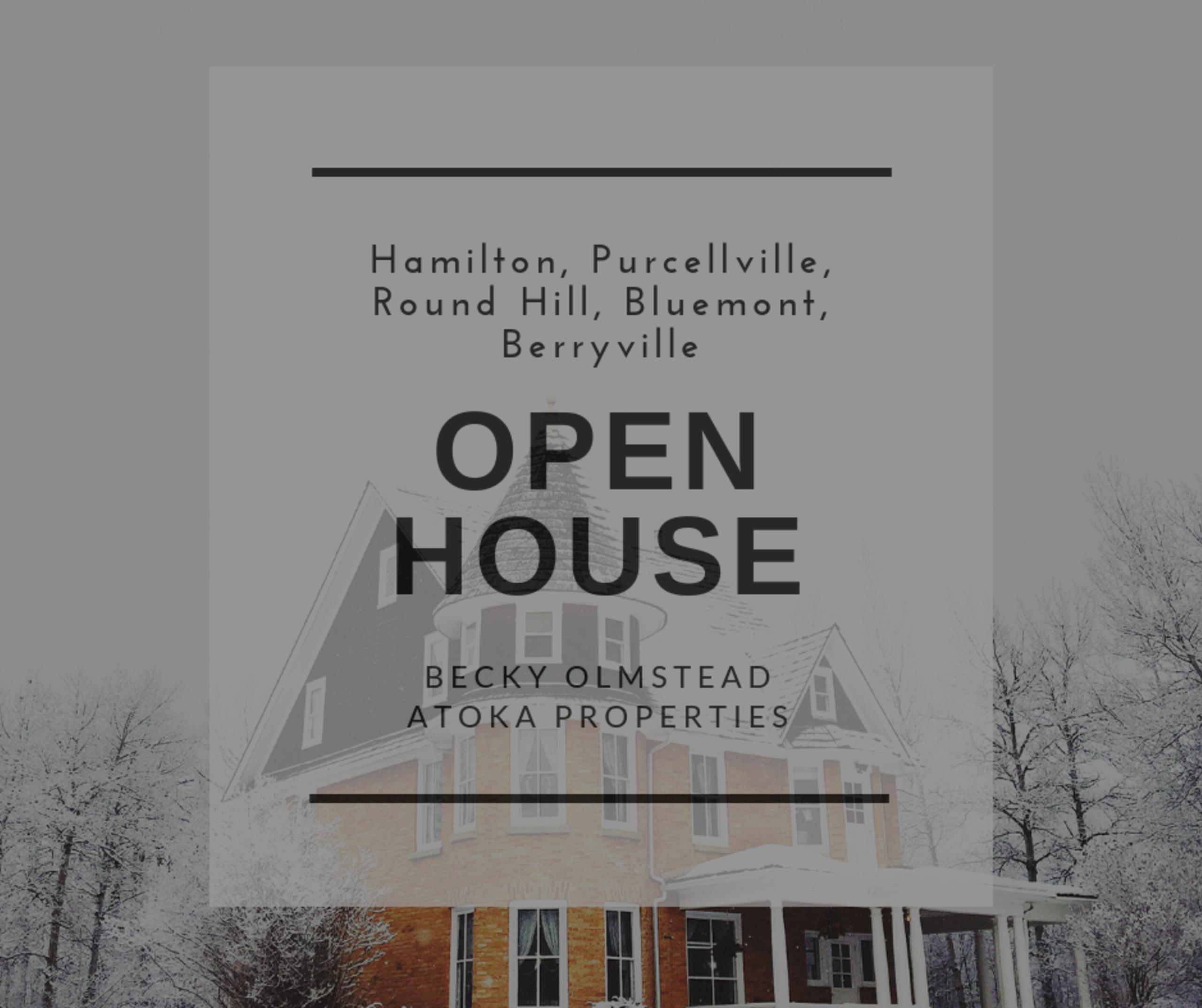 Open House 12/15/18 – 12/16/18