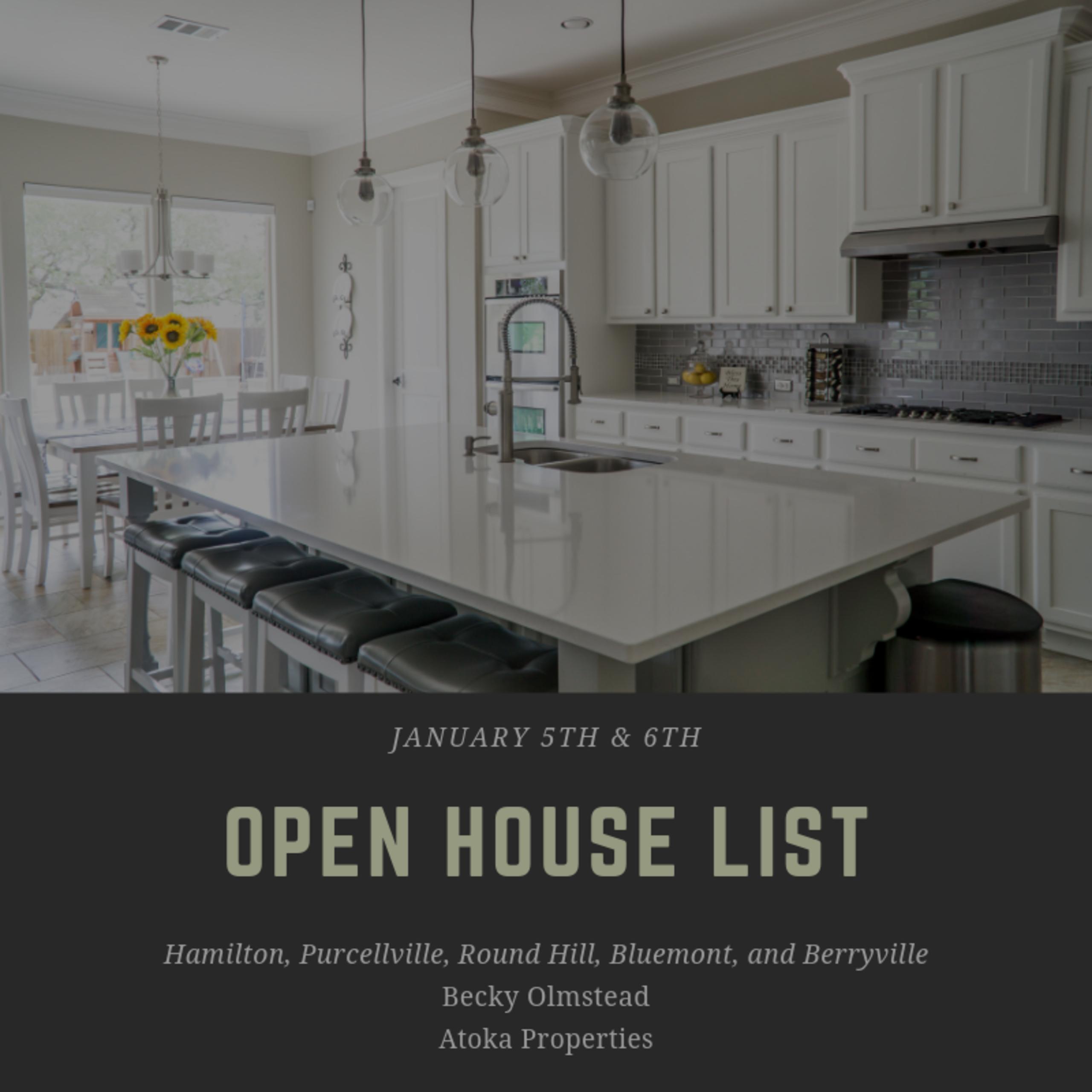 Open House 1/5/19 – 1/6/18