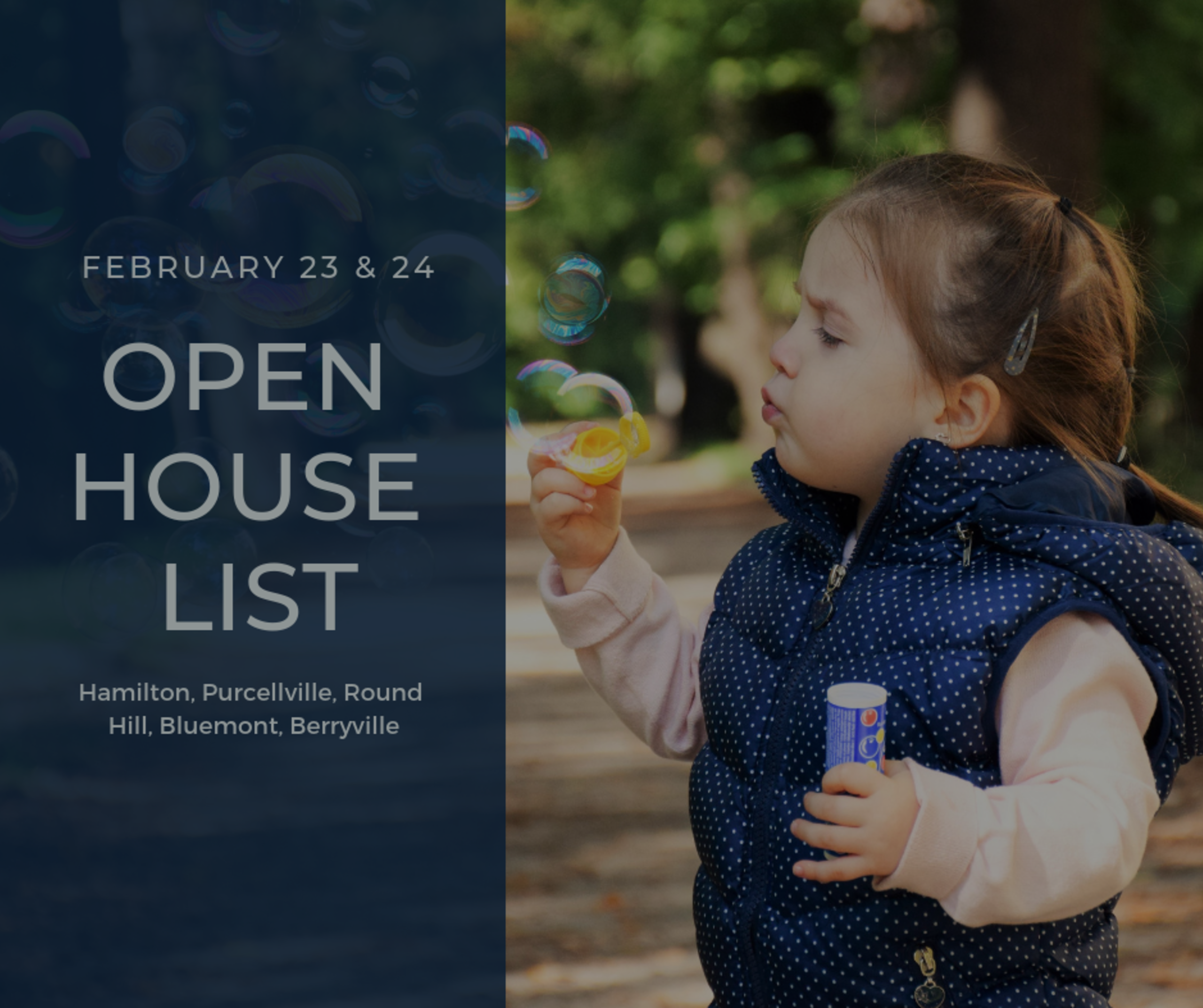 Open House List 2/23/19 – 2/24/19
