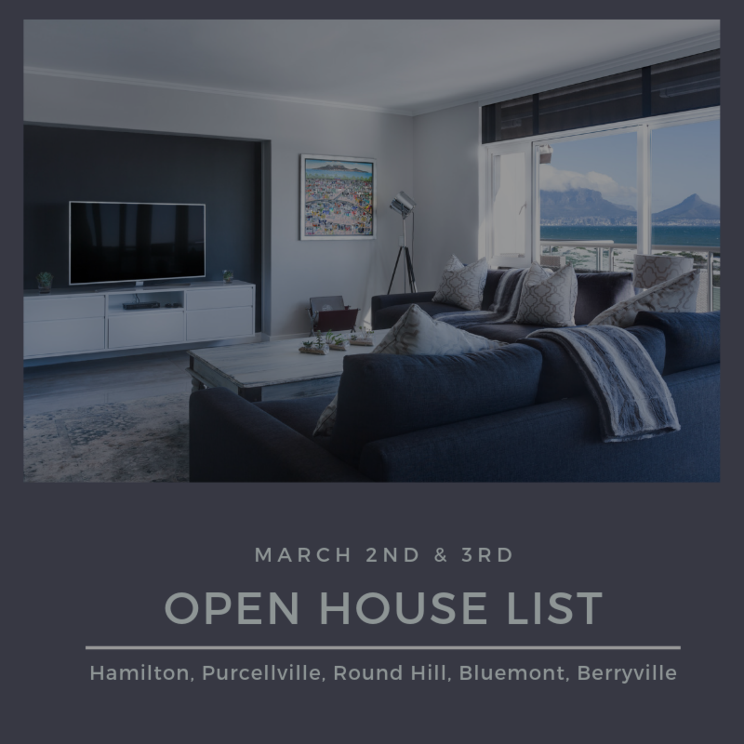 Open House List 3/2/19 – 3/3/19