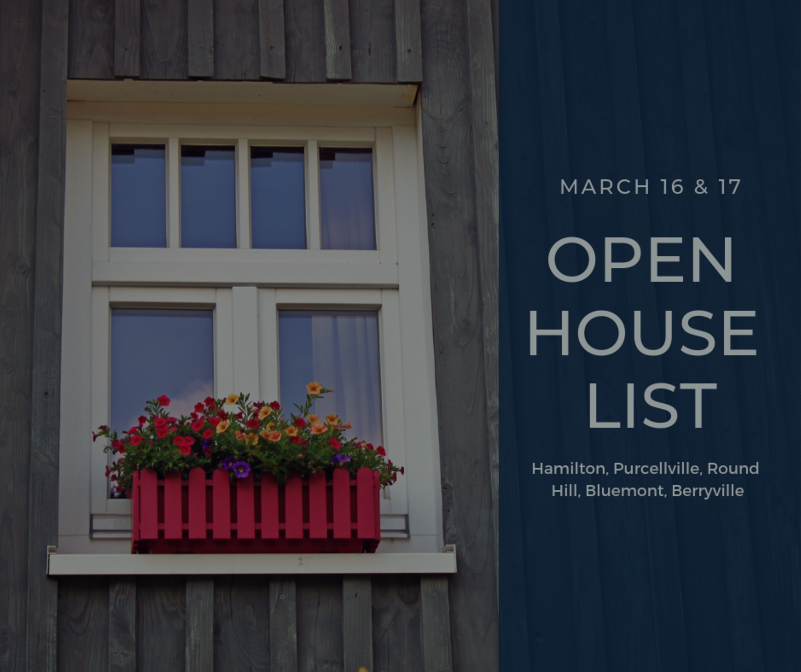 Open House List 3/16/19 – 3/17/19