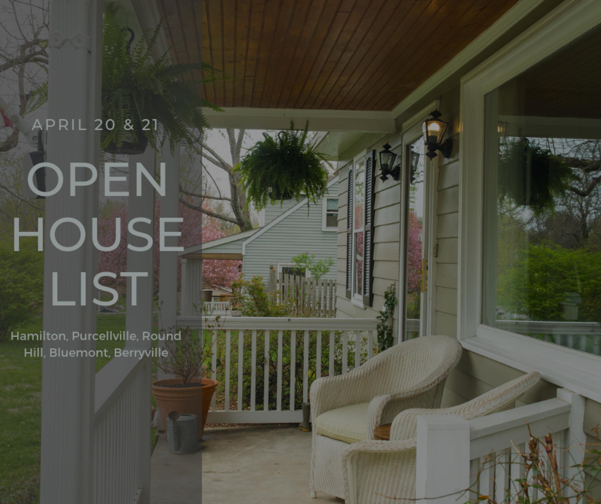 Open House List 4/20/19 – 4/20/19