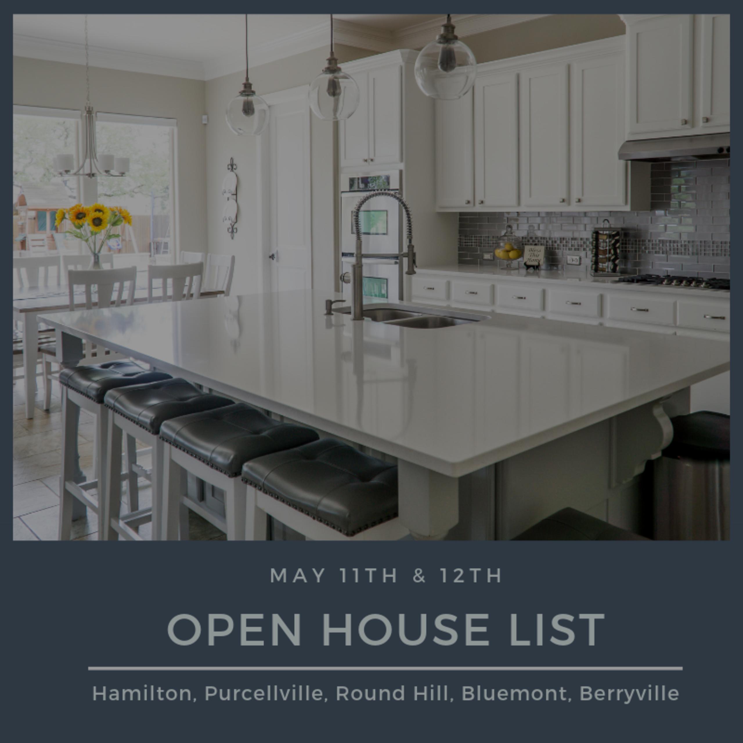 Open House List 5/11/19 – 5/12/19